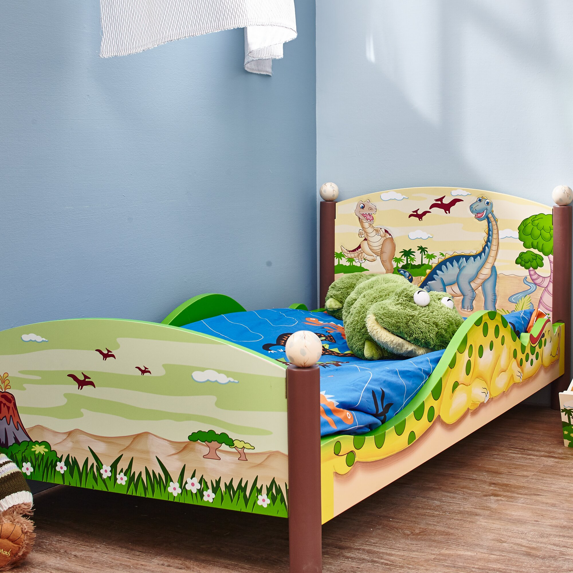 Fantasy Fields By Teamson Dinosaur Convertible Toddler Bed