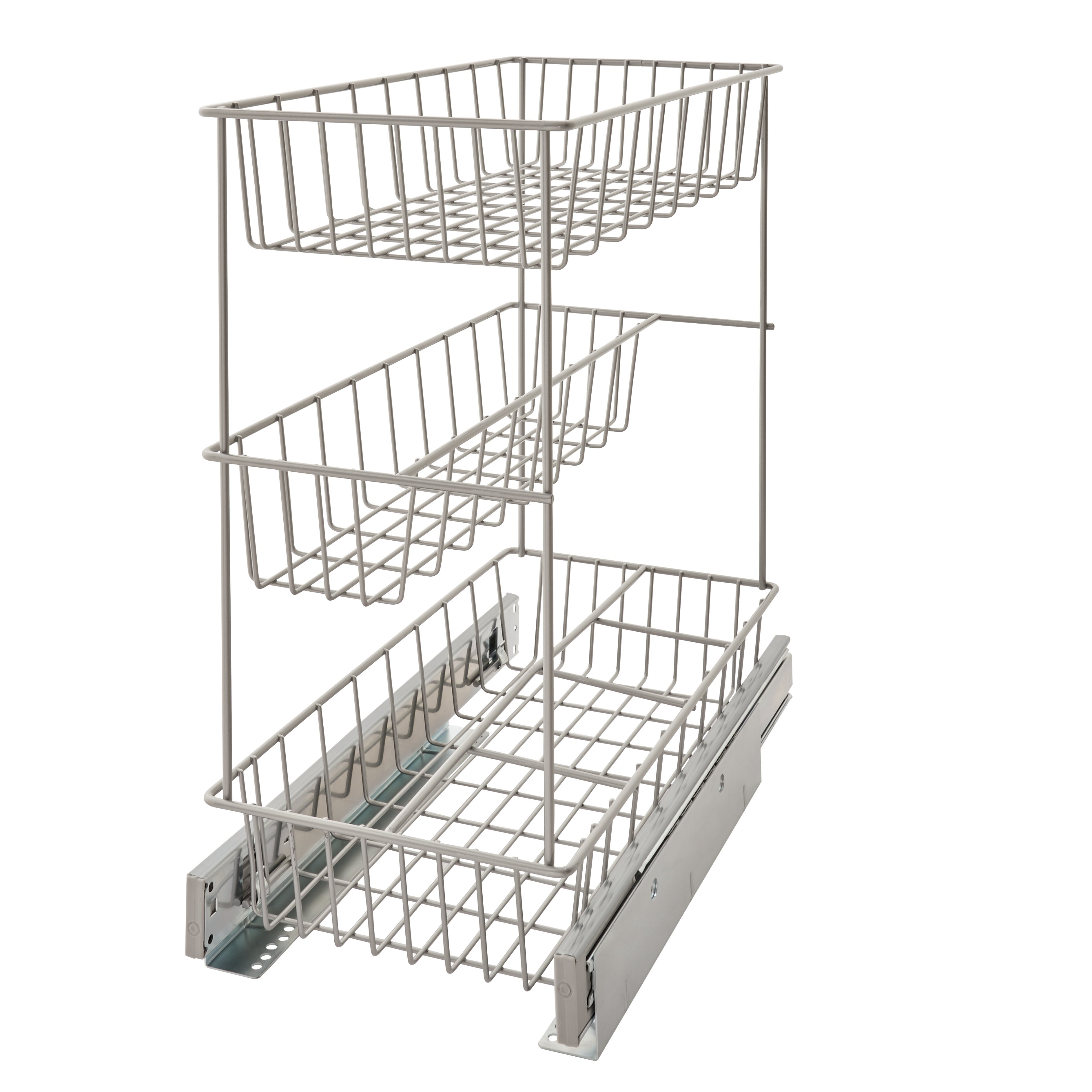 Charming ClosetMaid 3 Tier Compact Kitchen Cabinet Pull Out Basket