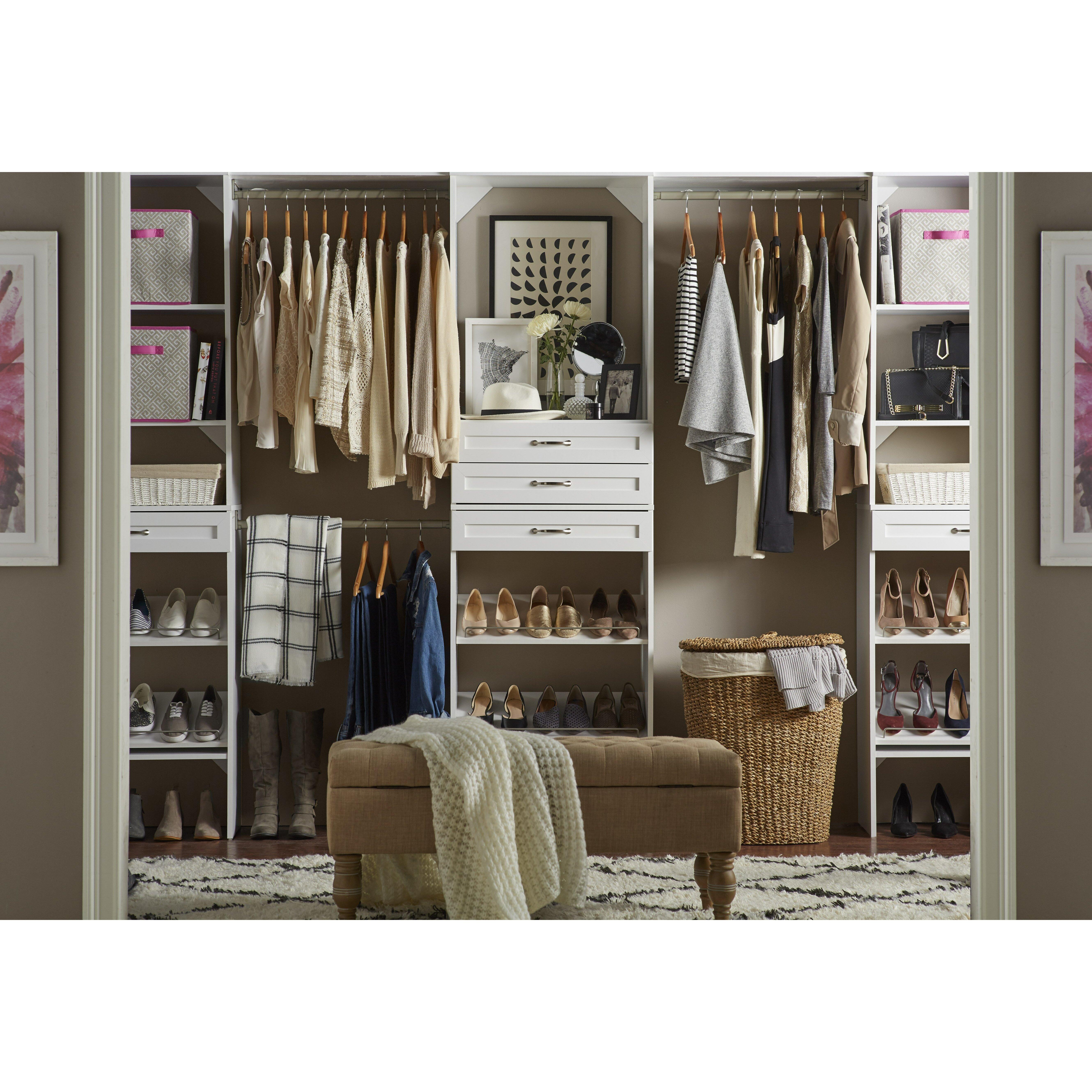 w chocolate narrow closet kit home the ou0027jays and home depot