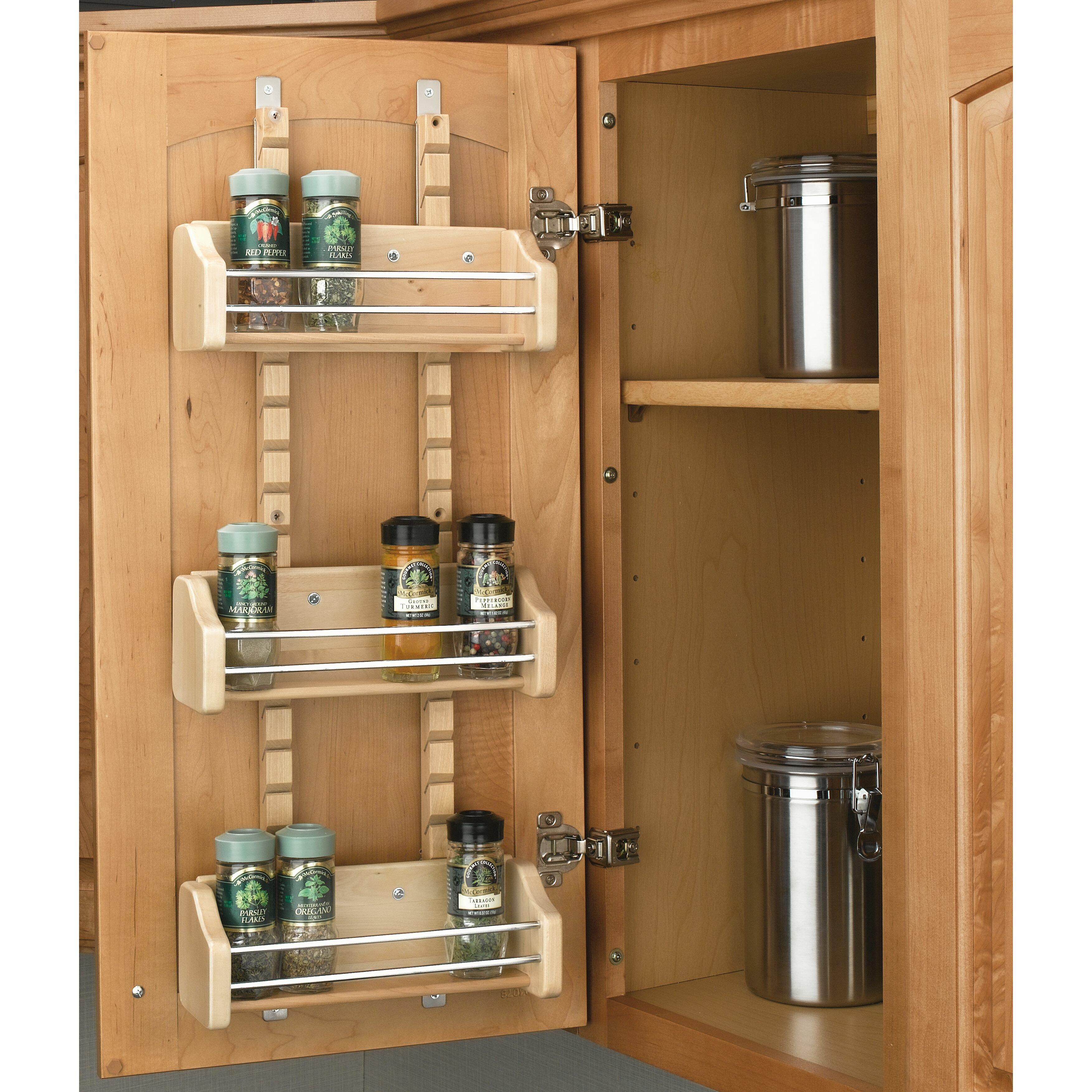 Bathroom Door Rack Rev A Shelf Adjustable Door Mount Spice Rack Reviews Wayfair