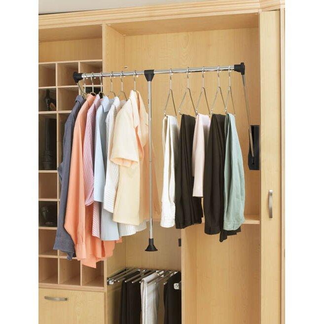 rev a shelf 21 5 w 26 w closet rod wayfair. Black Bedroom Furniture Sets. Home Design Ideas