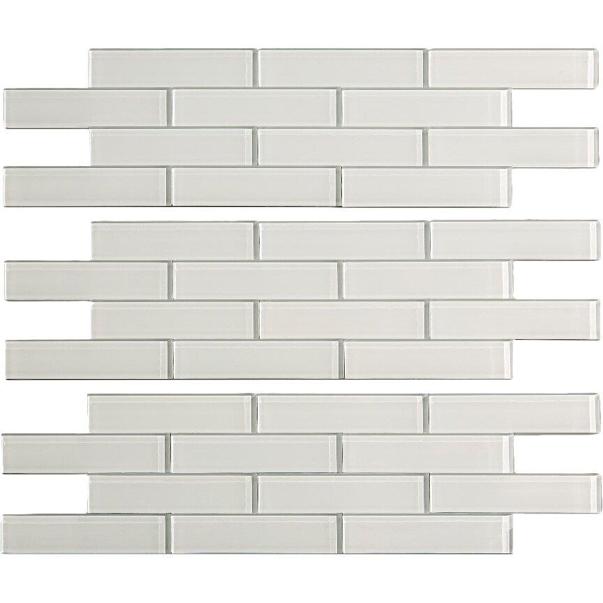 aspect 4 x 12 glass peel stick subway tile kit in frost reviews wayfair. Black Bedroom Furniture Sets. Home Design Ideas