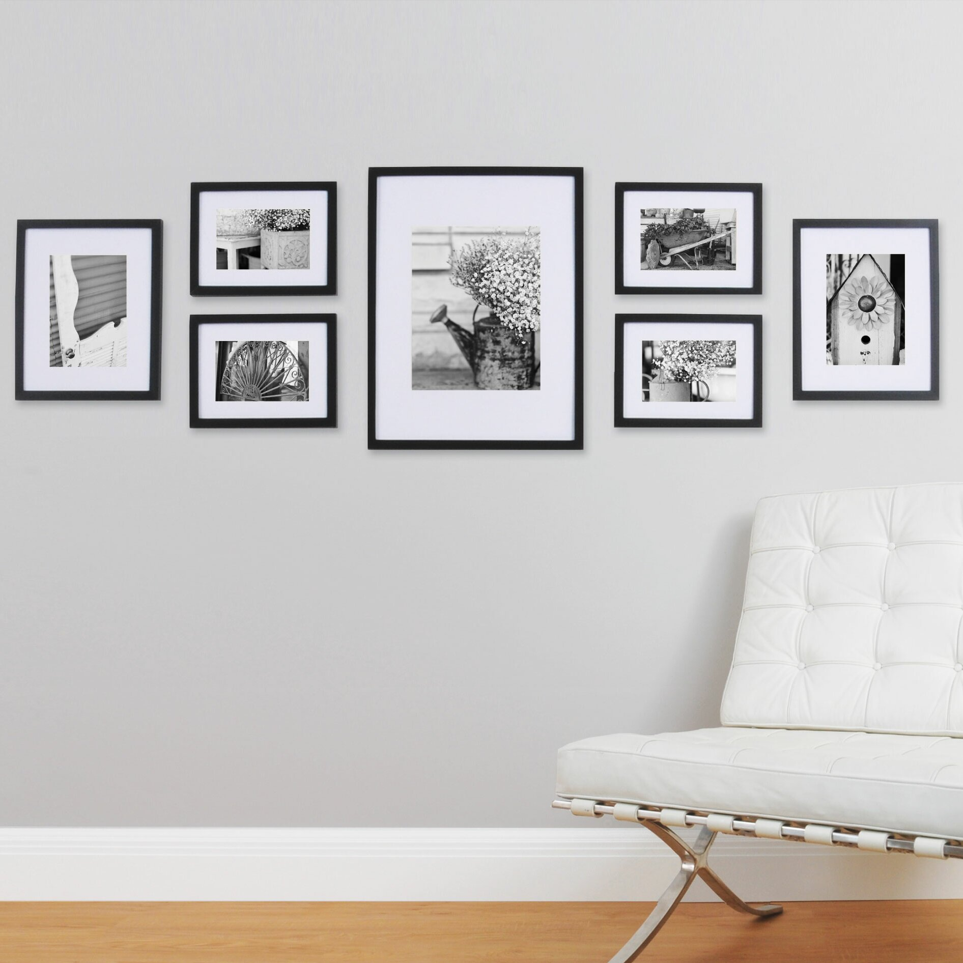 nielsen bainbridge gallery 7 piece perfect wall picture frame set