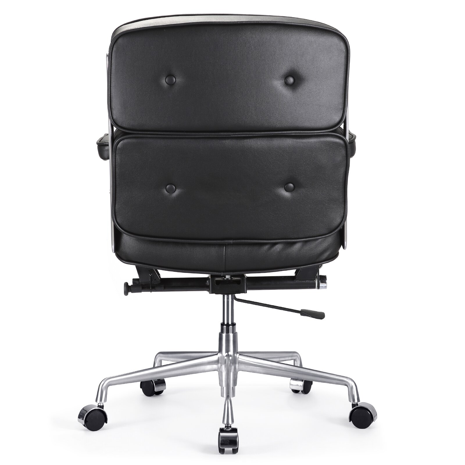 Leather Armless fice Chair Interior Design