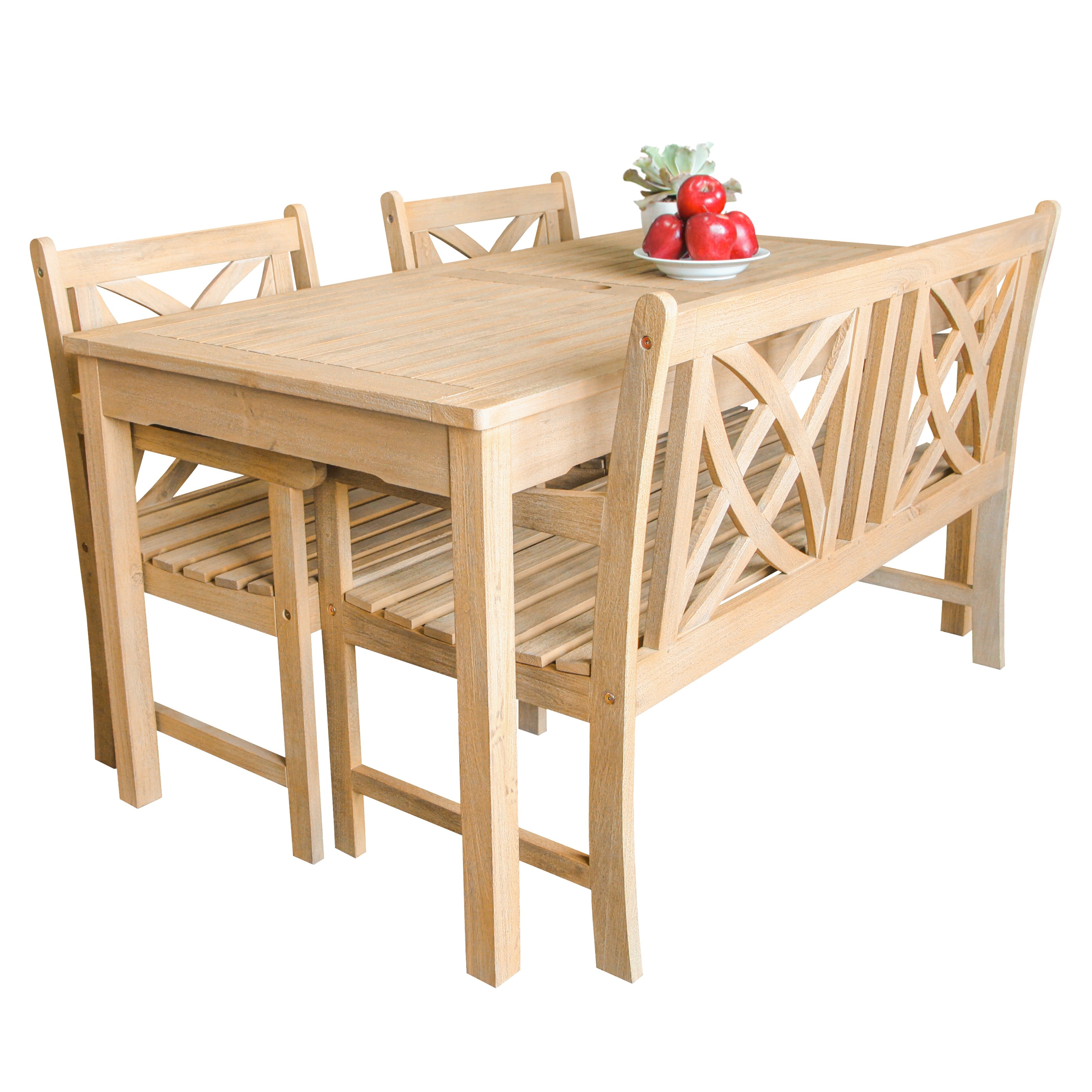 Vifah beverly outdoor piece dining set wayfair