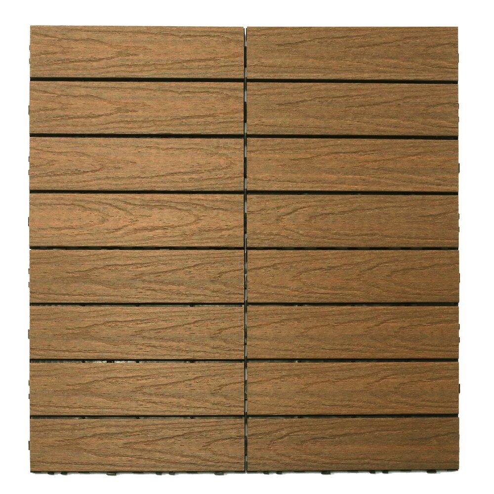 newtechwood naturale composite interlocking deck tiles in. Black Bedroom Furniture Sets. Home Design Ideas