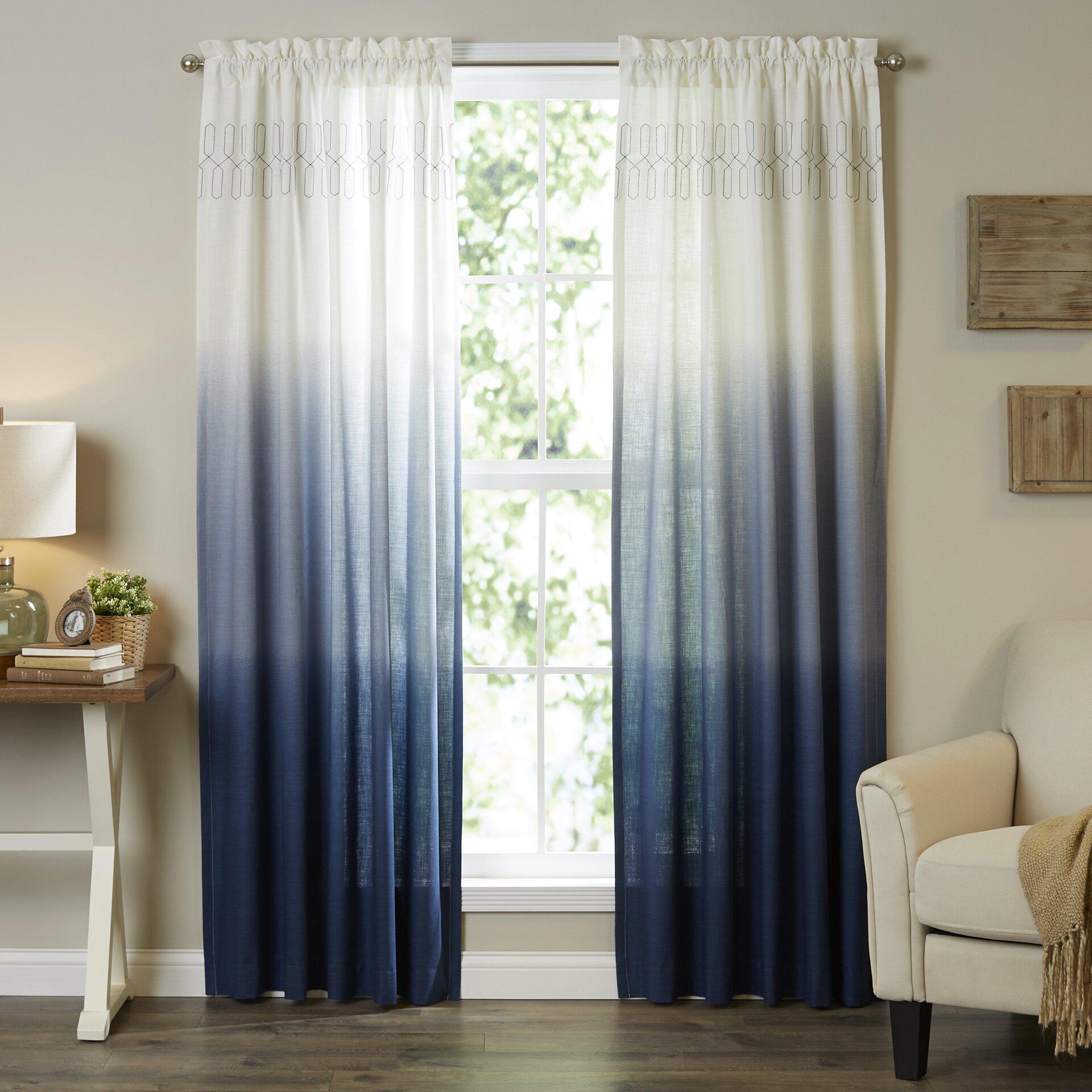 vue signature arashi single curtain panel reviews wayfair