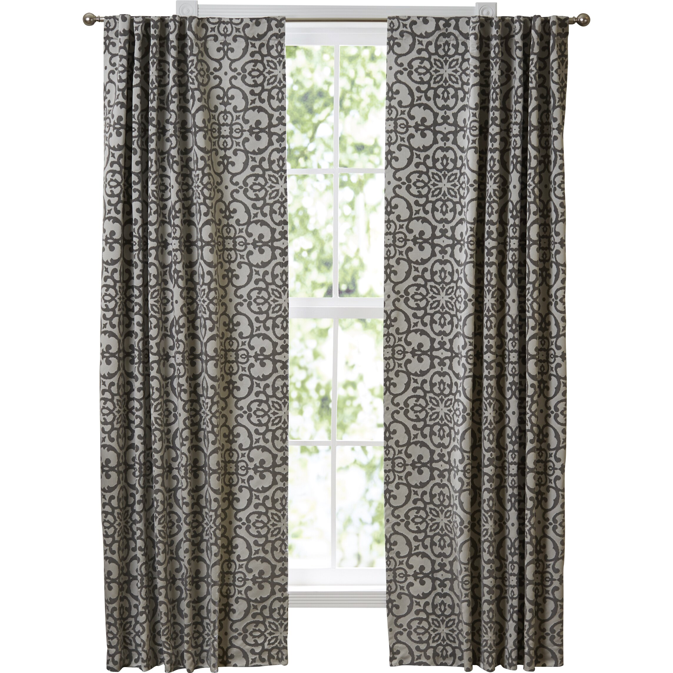 Ikat curtain panels - Vue Signature Lyric Window Single Curtain Panel