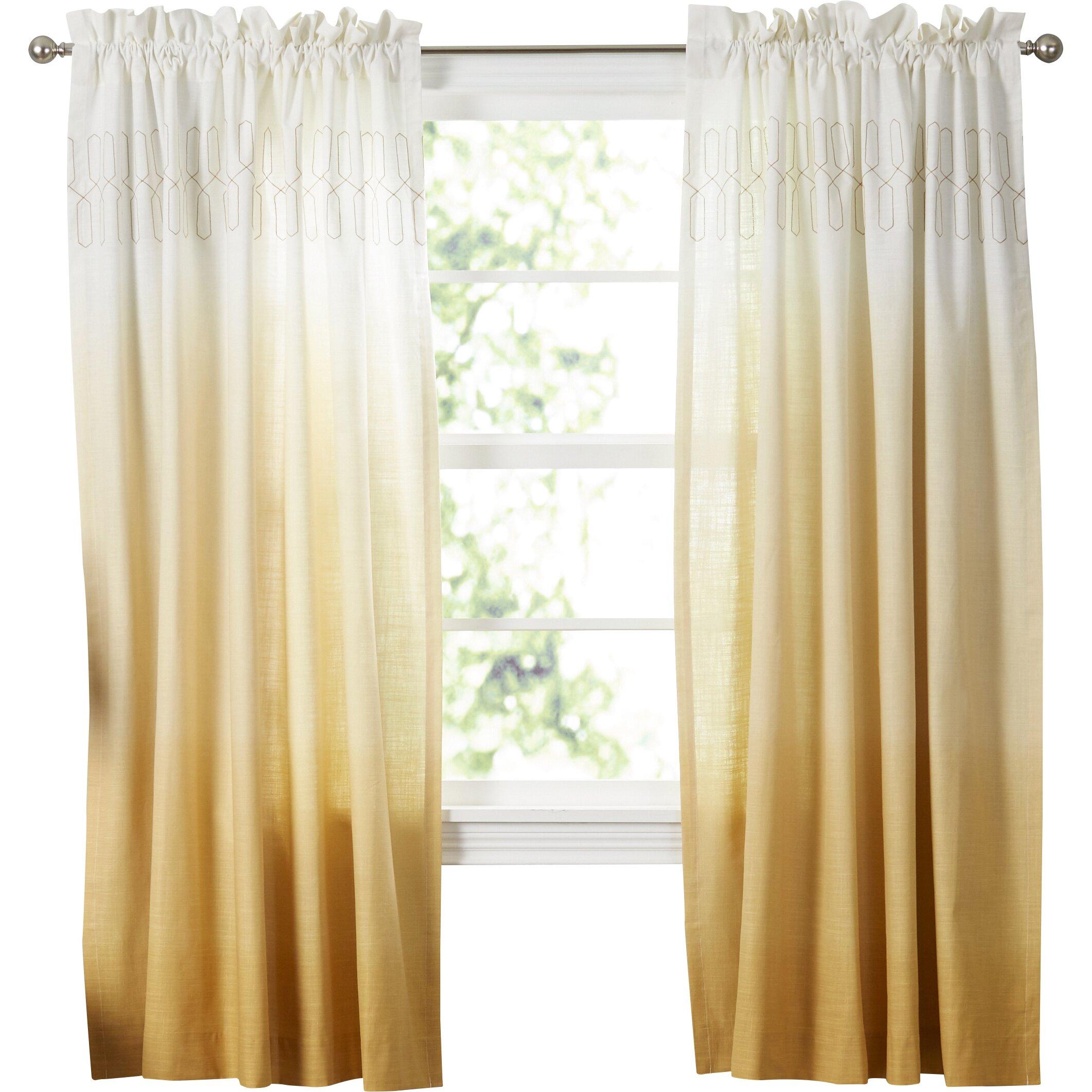 vue signature arashi single curtain panel reviews wayfair. Black Bedroom Furniture Sets. Home Design Ideas