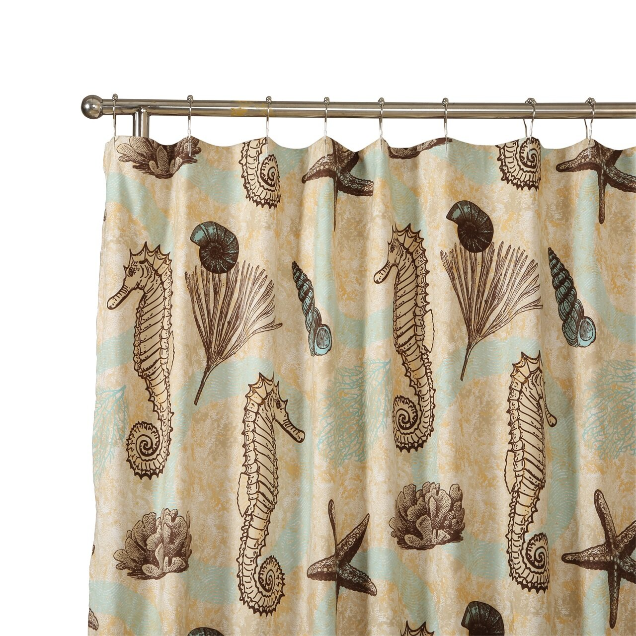 Affluence Home Fashions Sea Horse Shower Curtain Reviews Wayfair