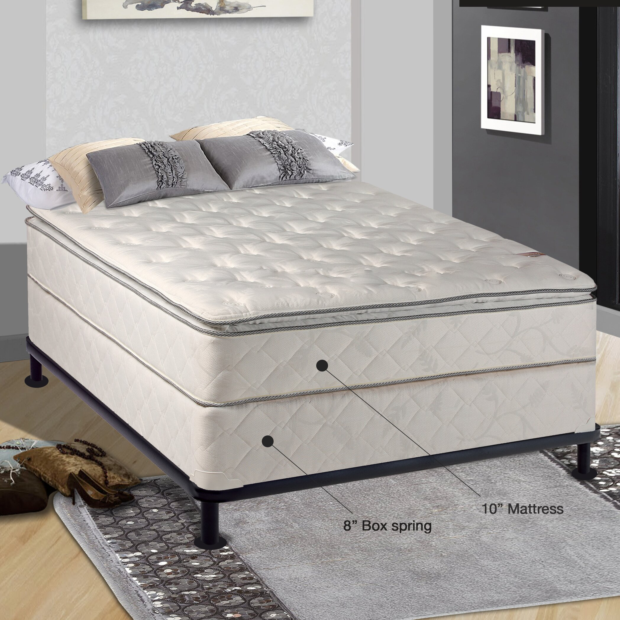 spinal solution orthopedic 10 firm mattress with box spring reviews. Black Bedroom Furniture Sets. Home Design Ideas