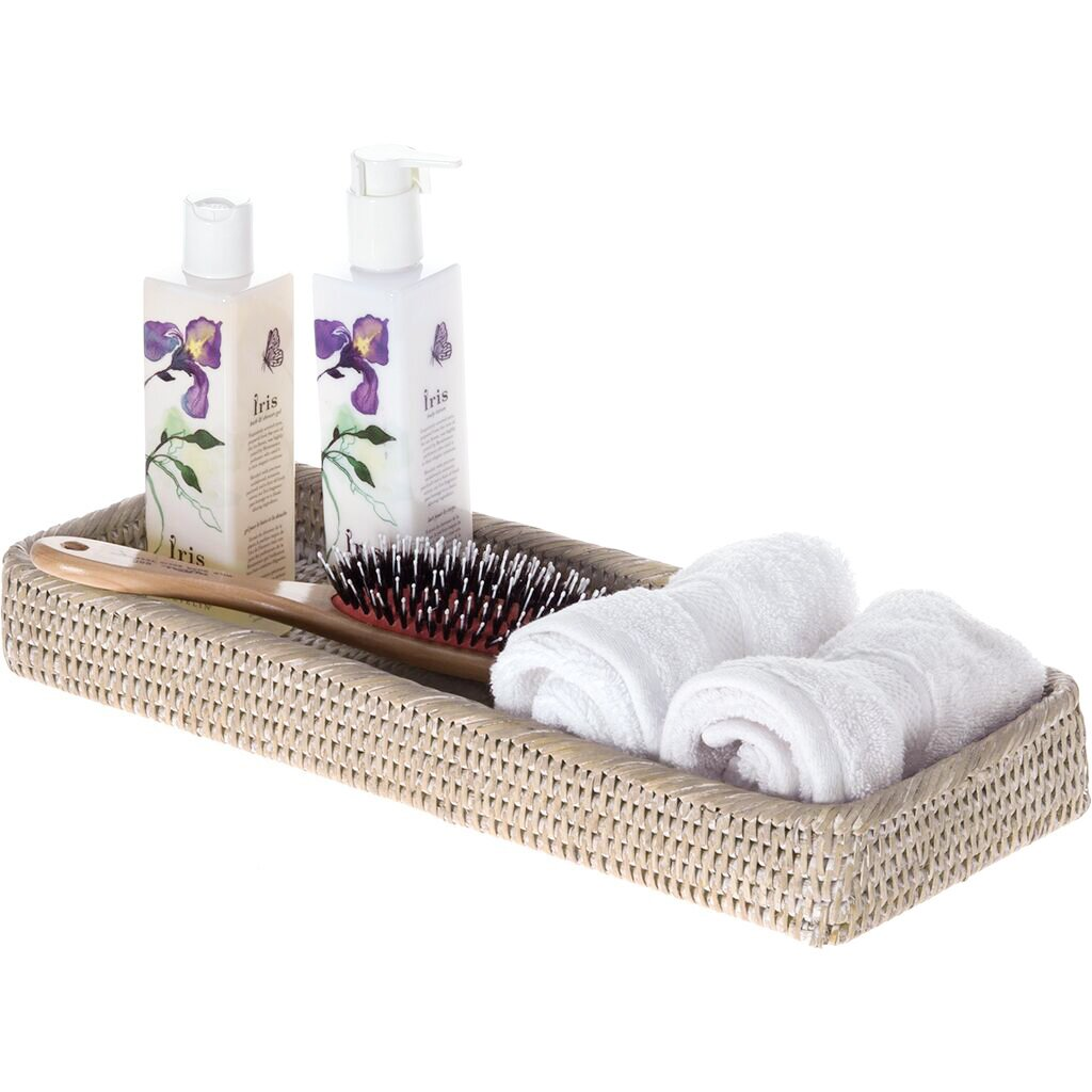 Kouboo La Jolla Handwoven Elongated Rattan Vanity Tray Reviews .