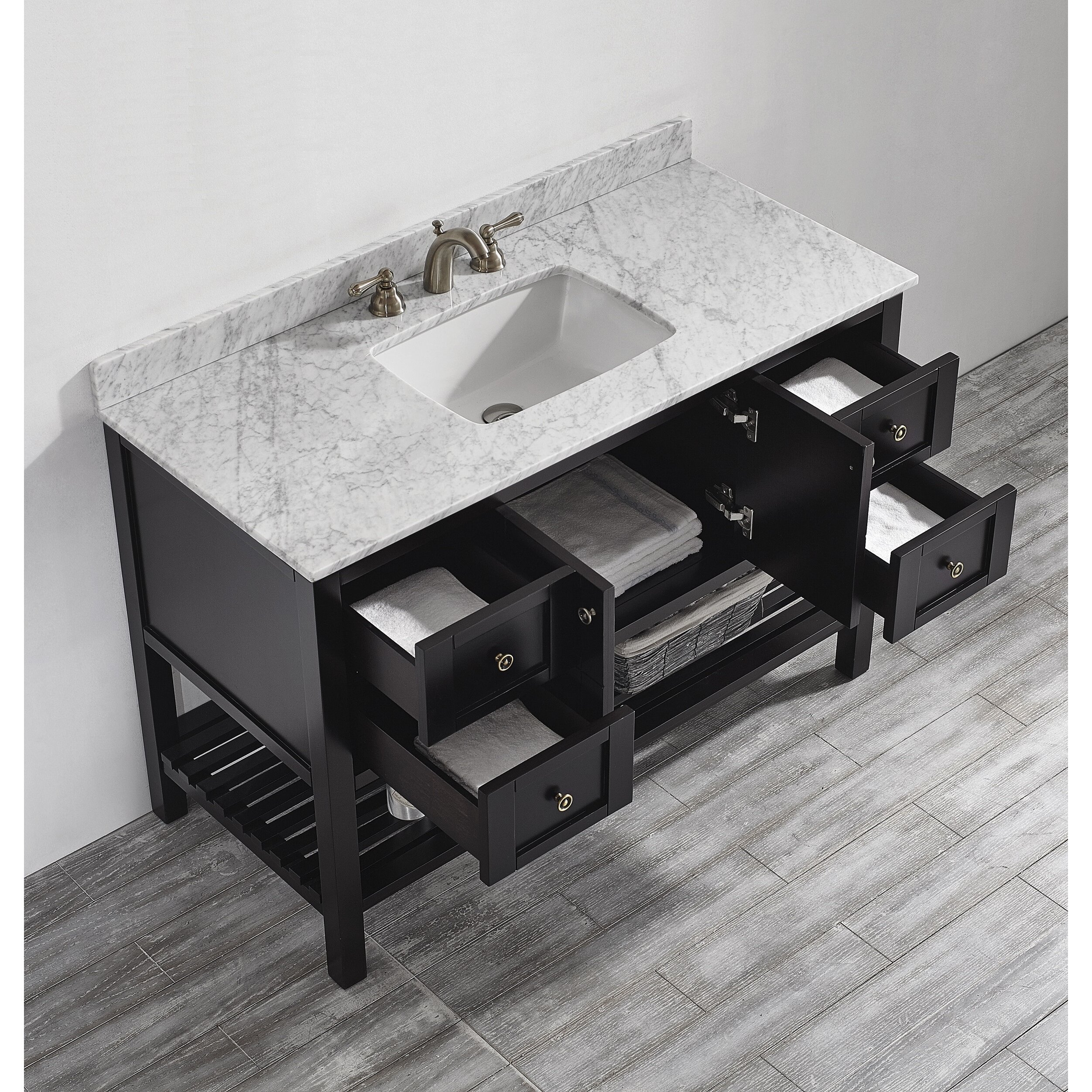 "vinnova florence 48"" single bathroom vanity set & reviews 