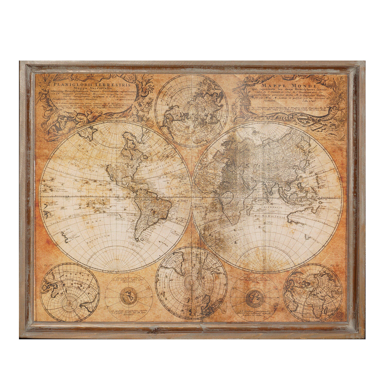 American Mercantile World Map Wall Decor