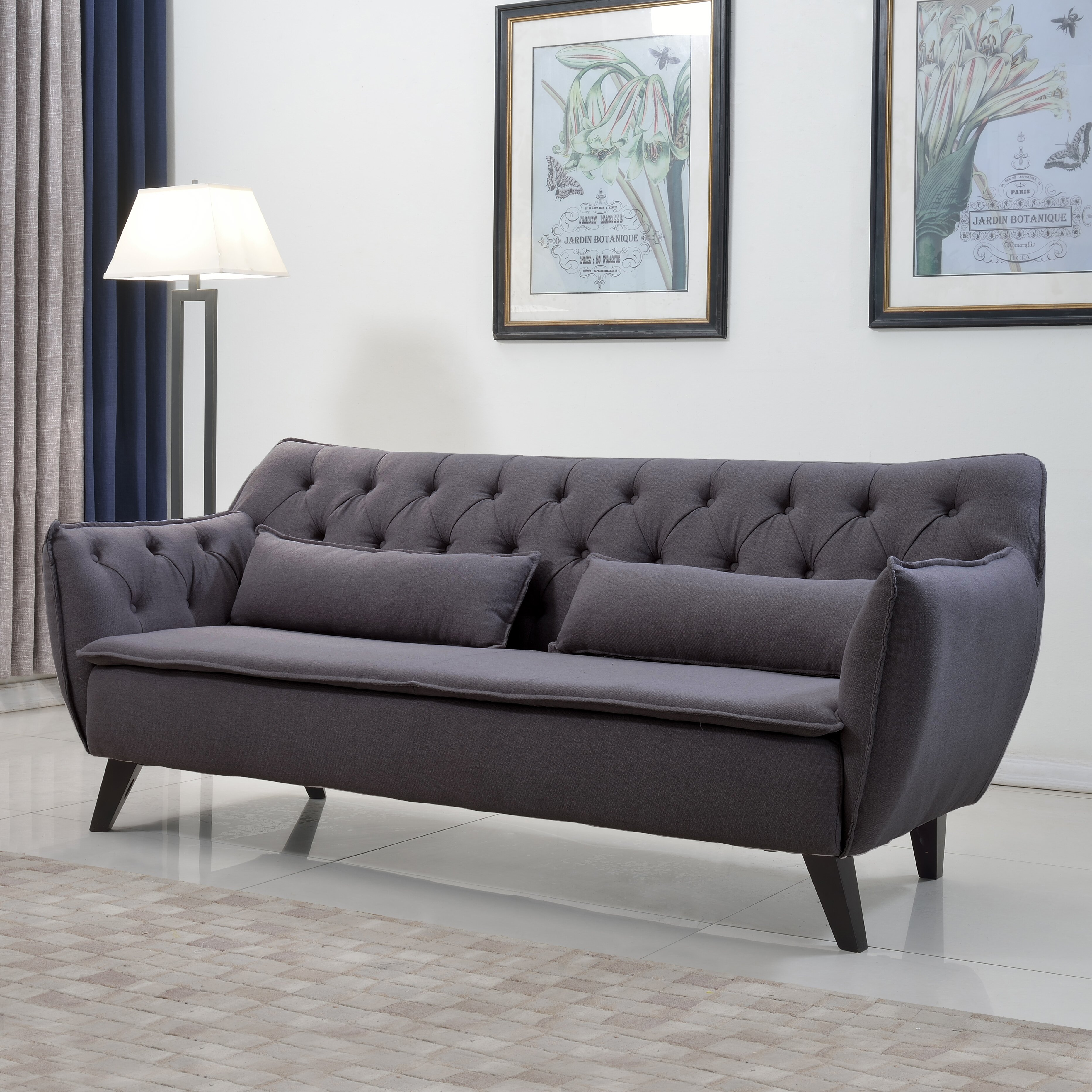 Round arm Sofas You'll Love   Wayfair
