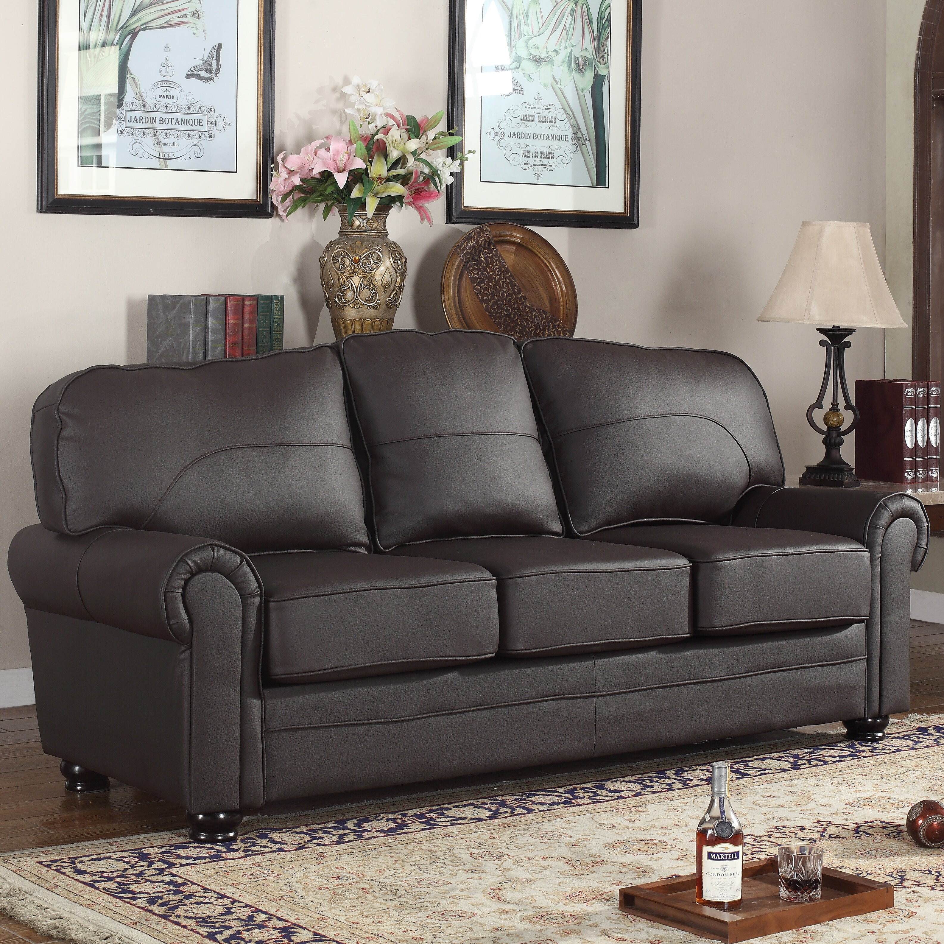 Genuine Leather Sectional Sofa Canada: Madison Home USA Leather Sofa & Reviews