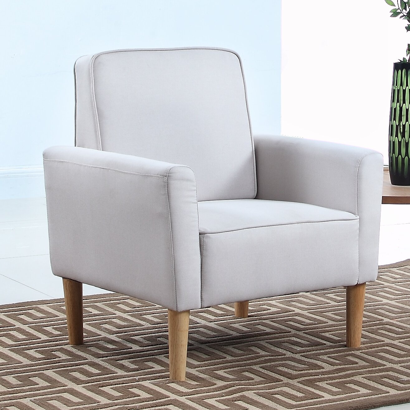 Mid Century Modern Living Room Chairs Madison Home Usa Mid Century Modern Fabric Living Room Armchair