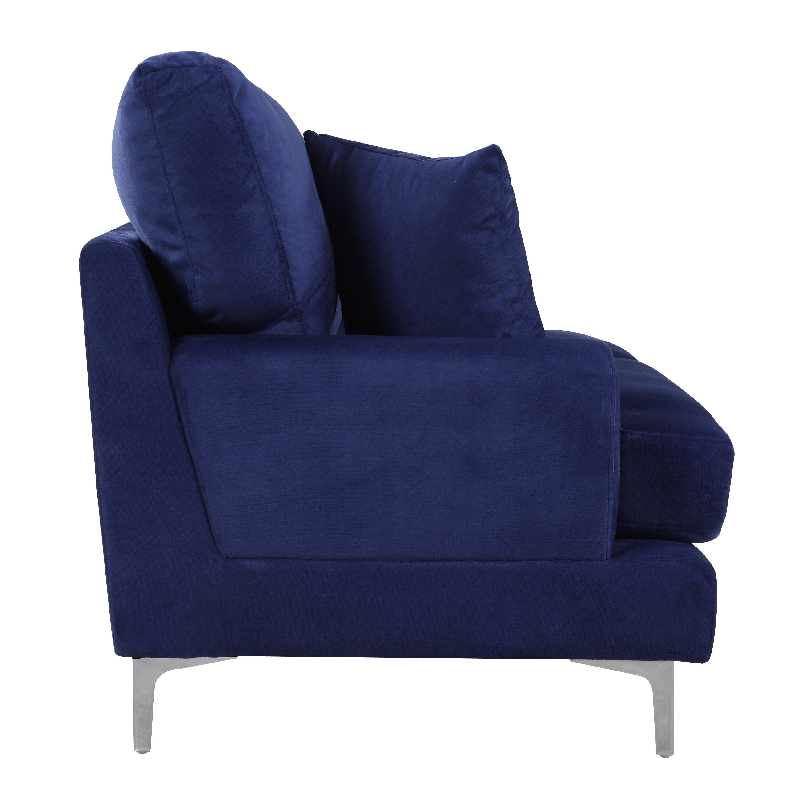 Velvet Living Room Furniture Madison Home Usa Ultra Modern Plush Velvet Living Room Sofa
