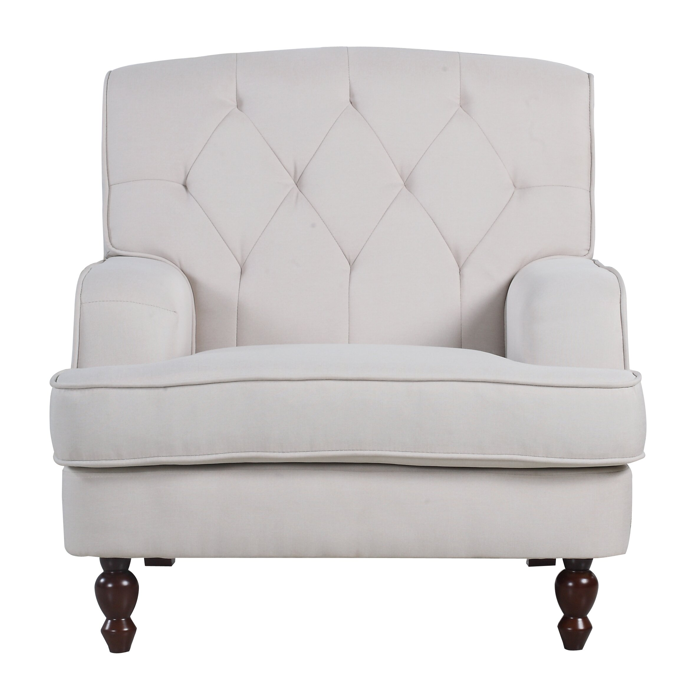 Tufted Living Room Chair Madison Home Usa Modern Tufted Fabric Living Room Arm Chair