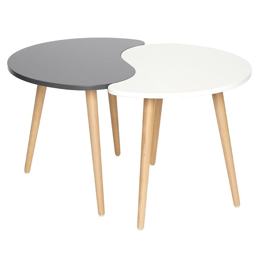 Mid Century Modern Style Coffee Table: Madison Home USA Mid Century Modern Yin And Yang Style 2