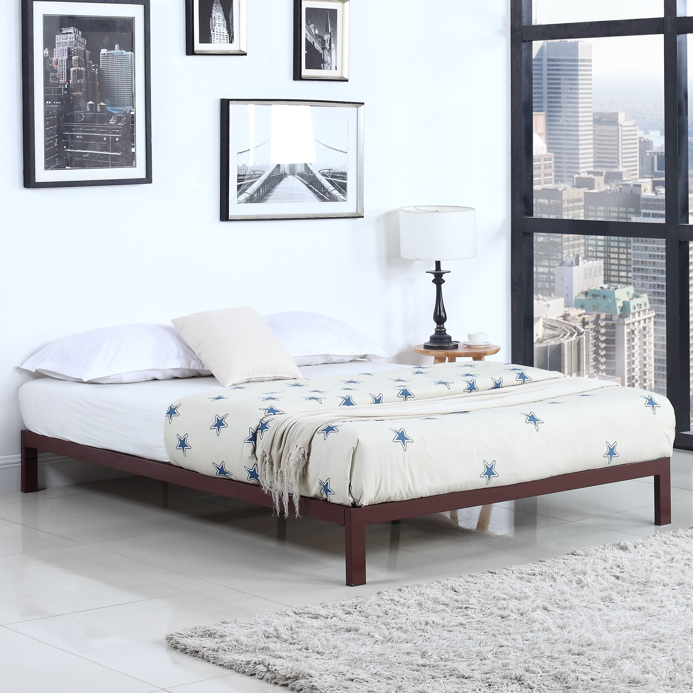 madison home usa modern metal platform bed frame