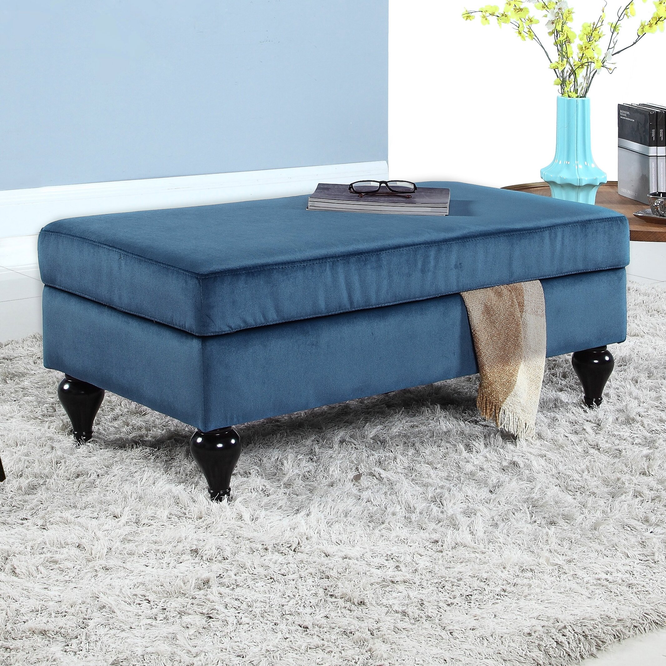 Madison Home USA Classic Velvet Storage Bedroom Bench. Madison Home USA Classic Velvet Storage Bedroom Bench   Reviews