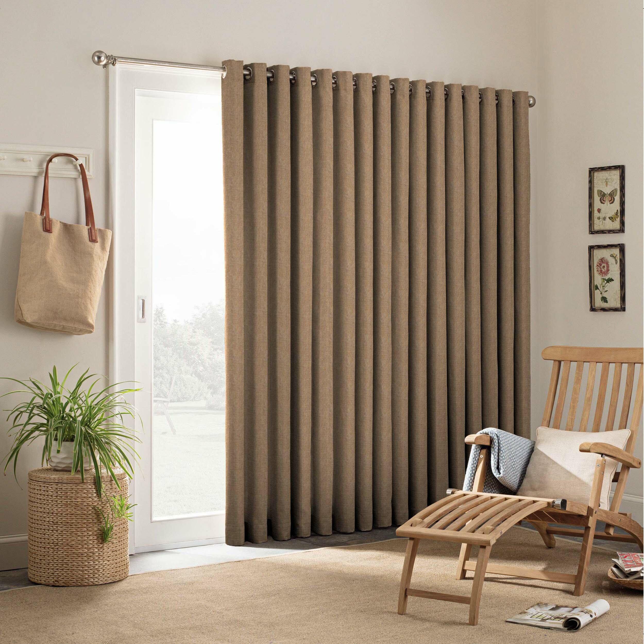 parasol key largo patio door indoor outdoor single curtain panel. Black Bedroom Furniture Sets. Home Design Ideas