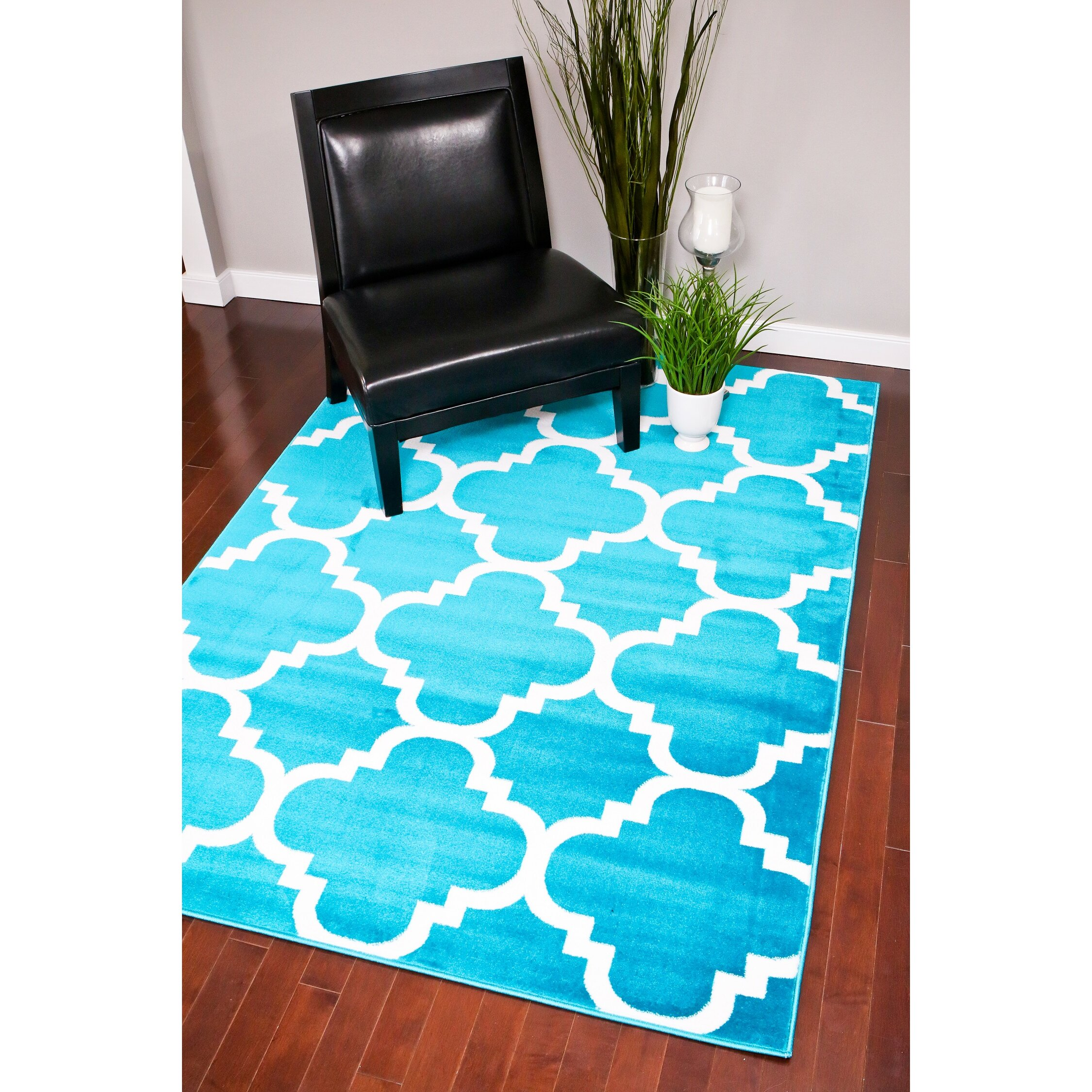 Persian rugs Turquoise Indoor Outdoor Area Rug & Reviews