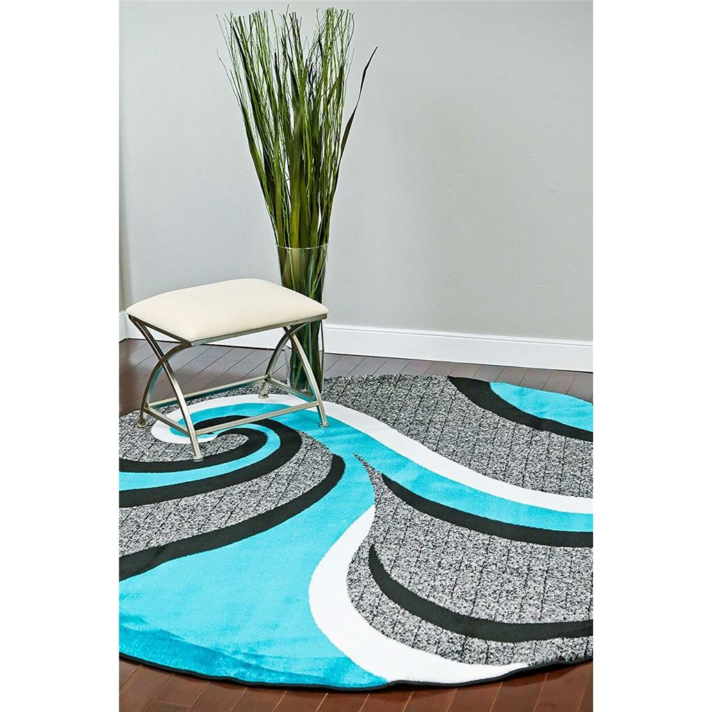 Persian Rugs Abstract Turquoise Area Rug Amp Reviews Wayfair