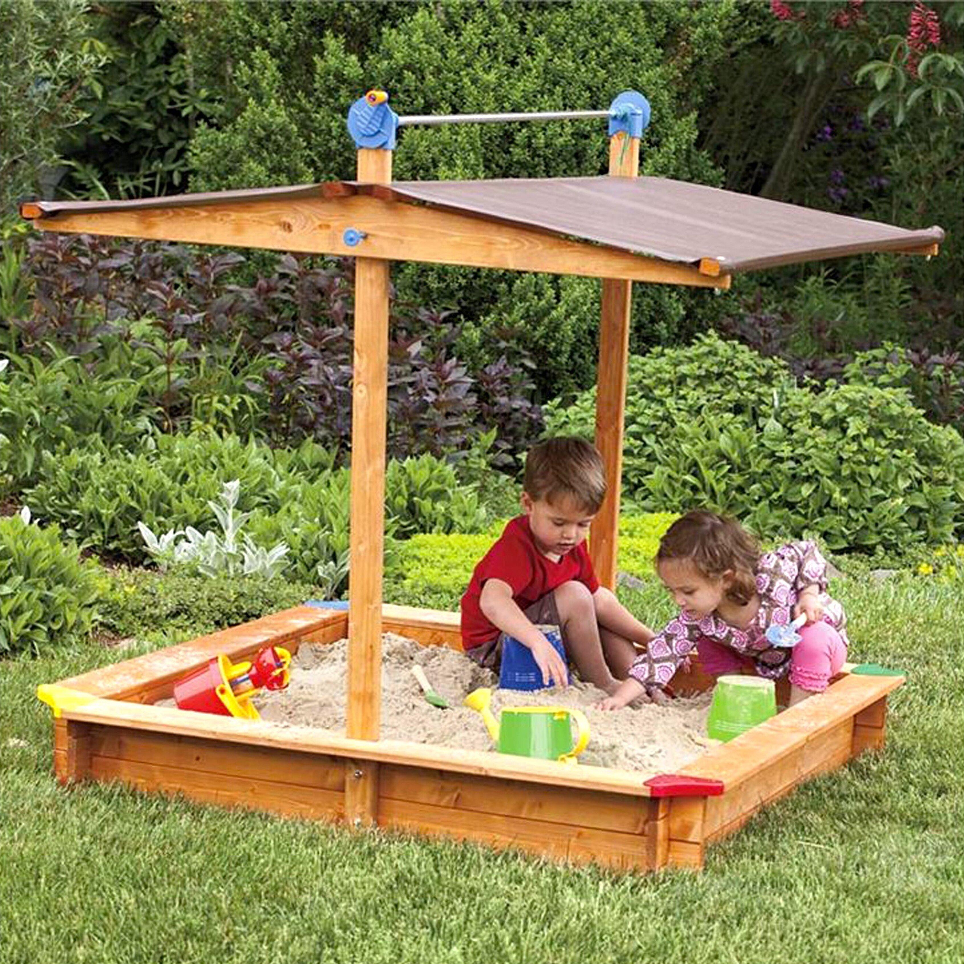 Tierra Garden Mickey Children's 4.67' Ft. Square Sandbox