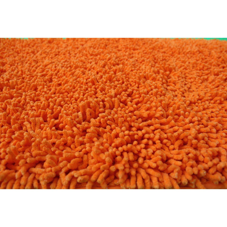 Tache Home Fashion Chenille Orange Indoor Outdoor Area Rug