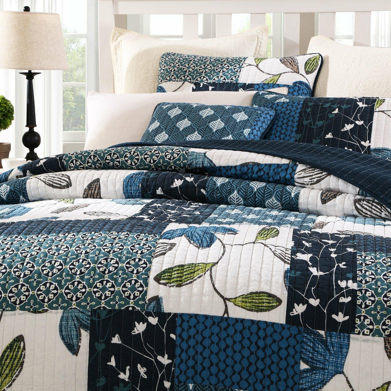 Tache Home Fashion Nightfall Gardenia Quilt Set Amp Reviews