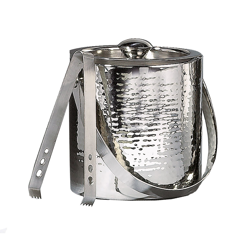 Elegance by Leeber Hammered Stainless Steel Doublewall Ice  : Elegance by Leeber Hammered Stainless Steel Doublewall Ice Bucket from www.wayfair.com size 1500 x 1500 jpeg 234kB