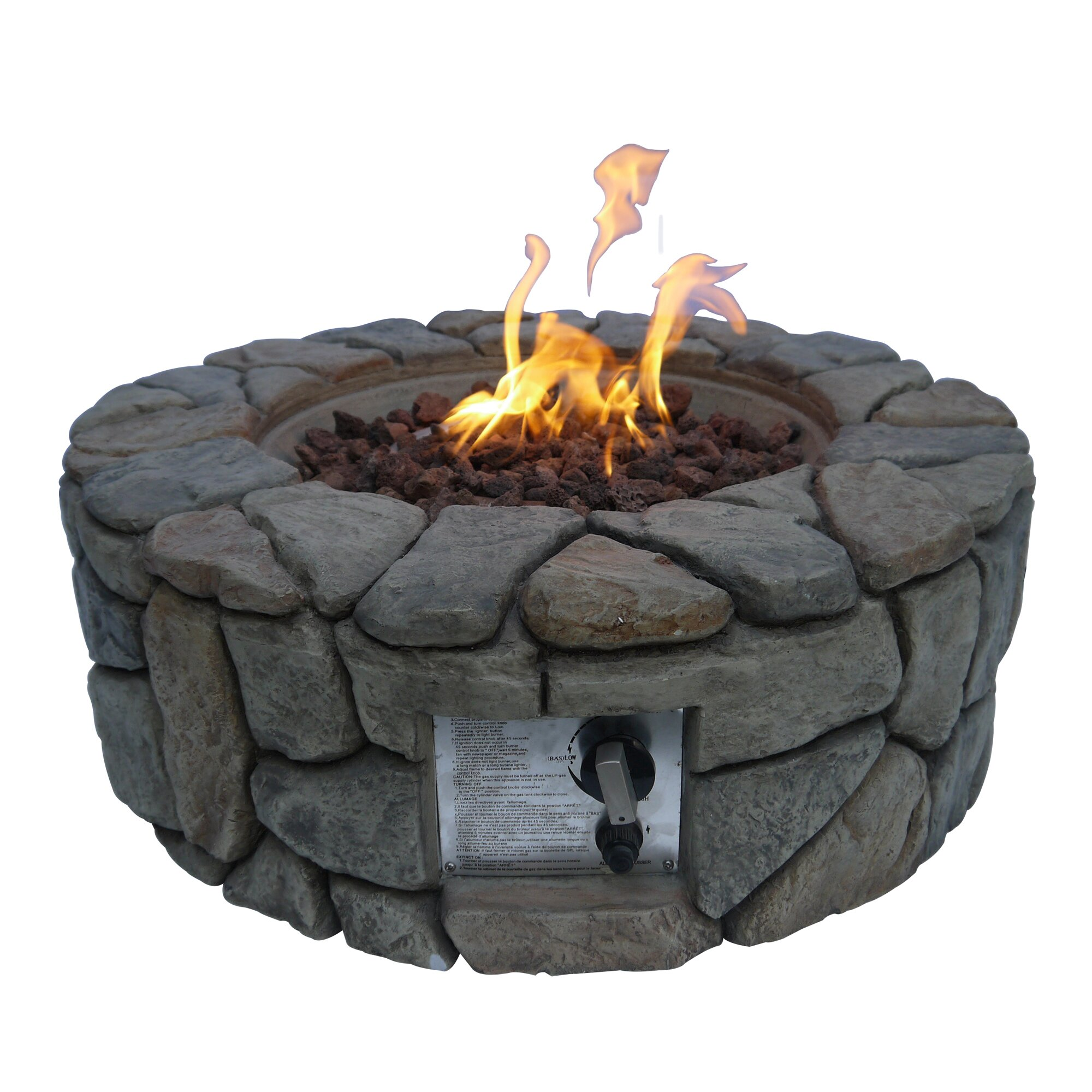 how to build a gas fire pit with rocks