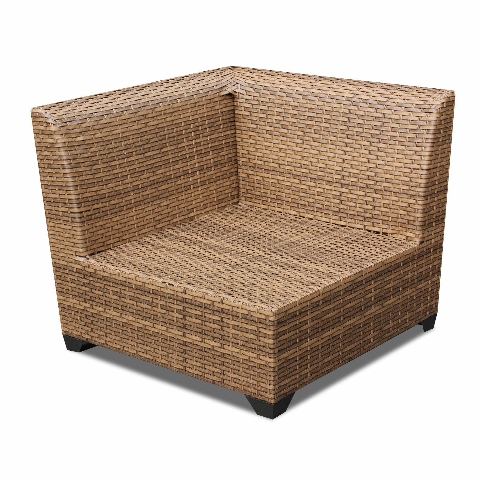 TK Classics Laguna Outdoor Wicker Patio 2 Piece Deep Seating Group With Cushi