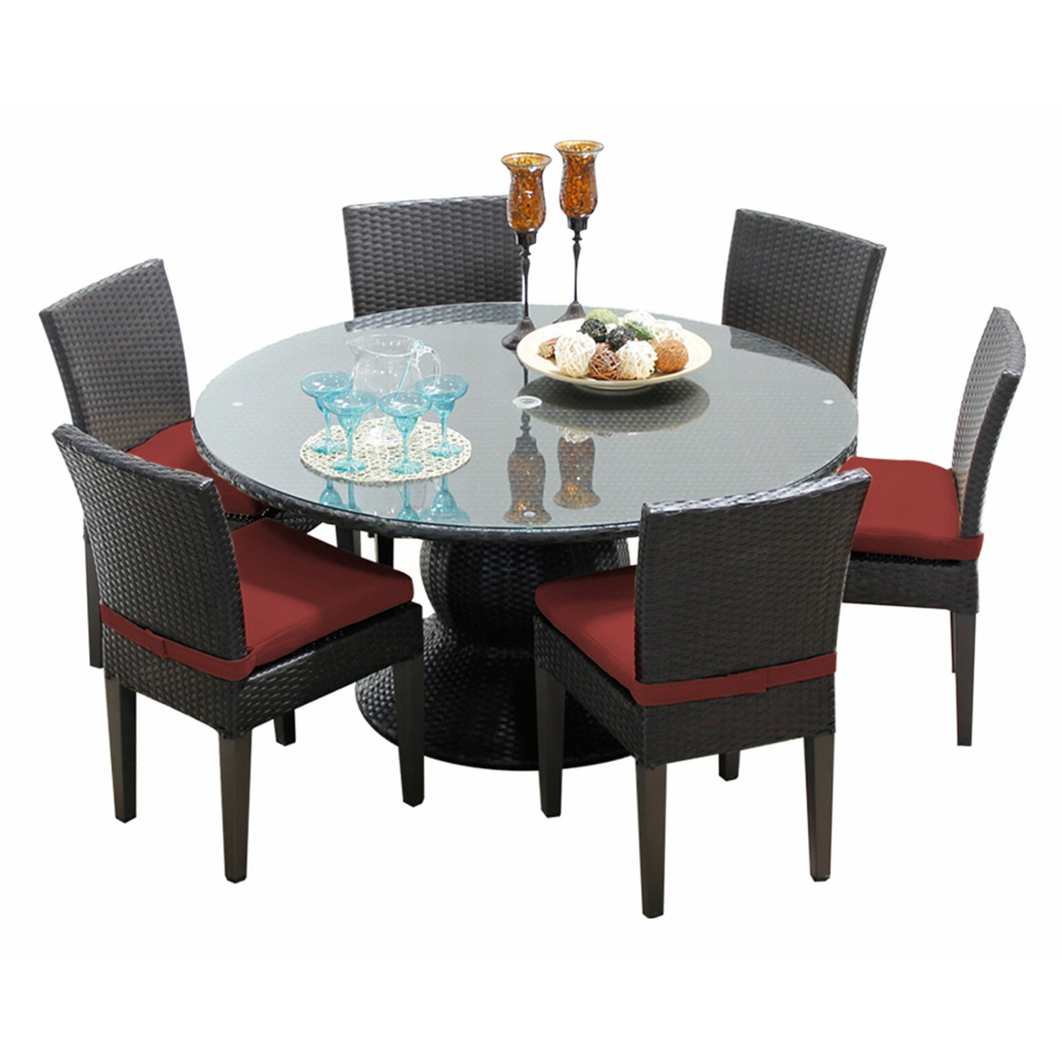 Amazing photo of TK Classics Napa 7 Piece Dining Set with Cushion Wayfair with #74332F color and 1539x1539 pixels