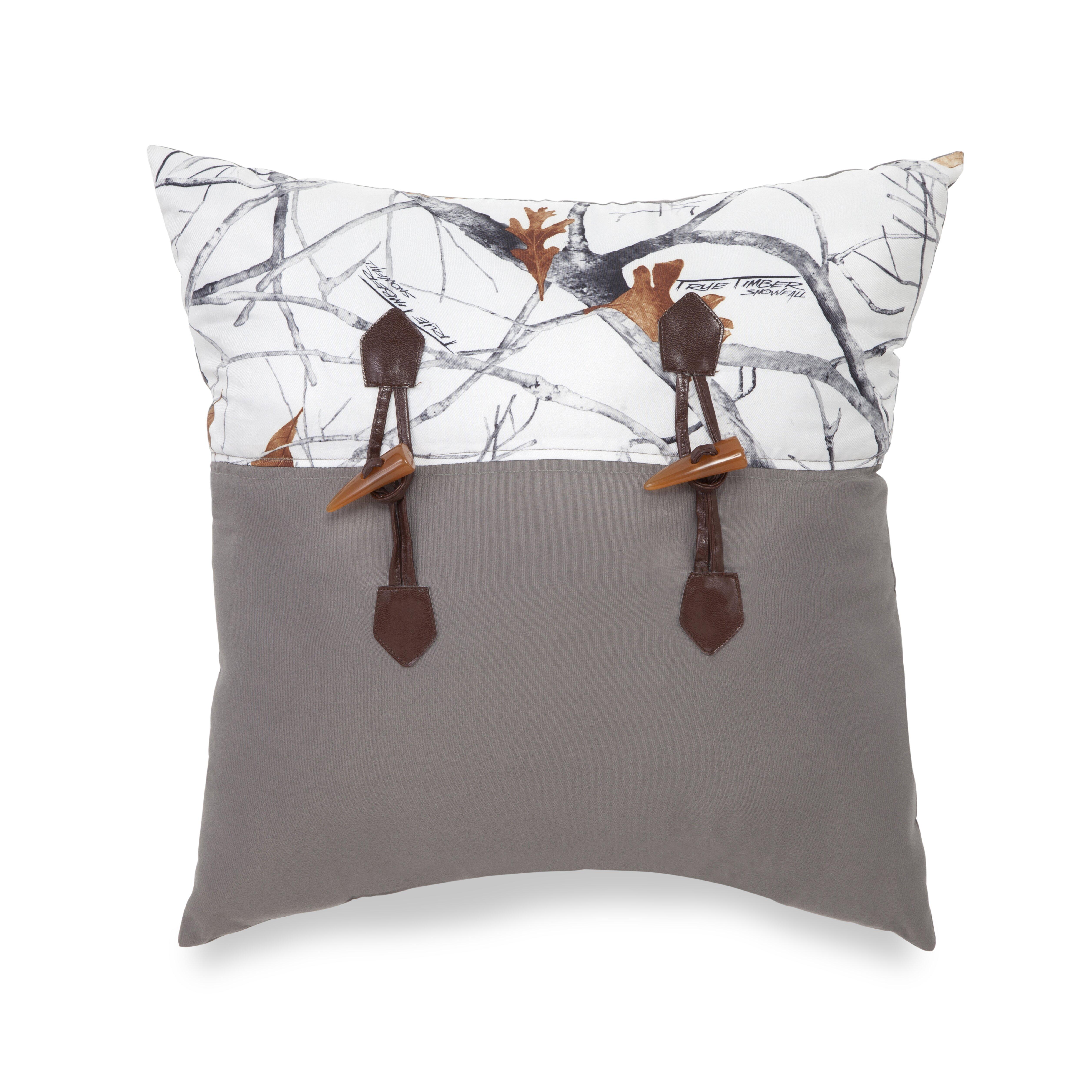 True Timber Snowfall Decorative Throw Pillow & Reviews | Wayfair - True Timber Snowfall Decorative Throw Pillow