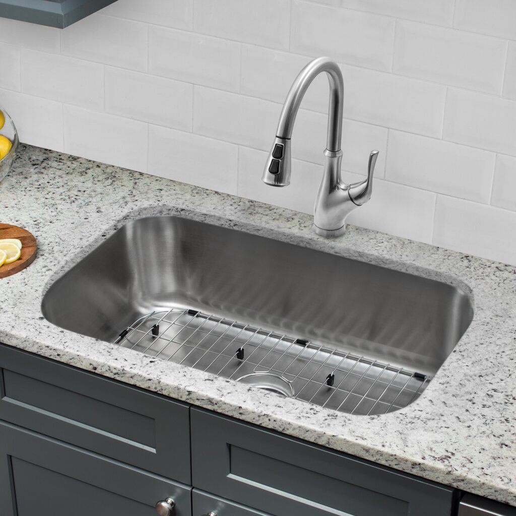 Soleil 30 X 18 Single Bowl Undermount Kitchen Sink With Faucet Wayfair