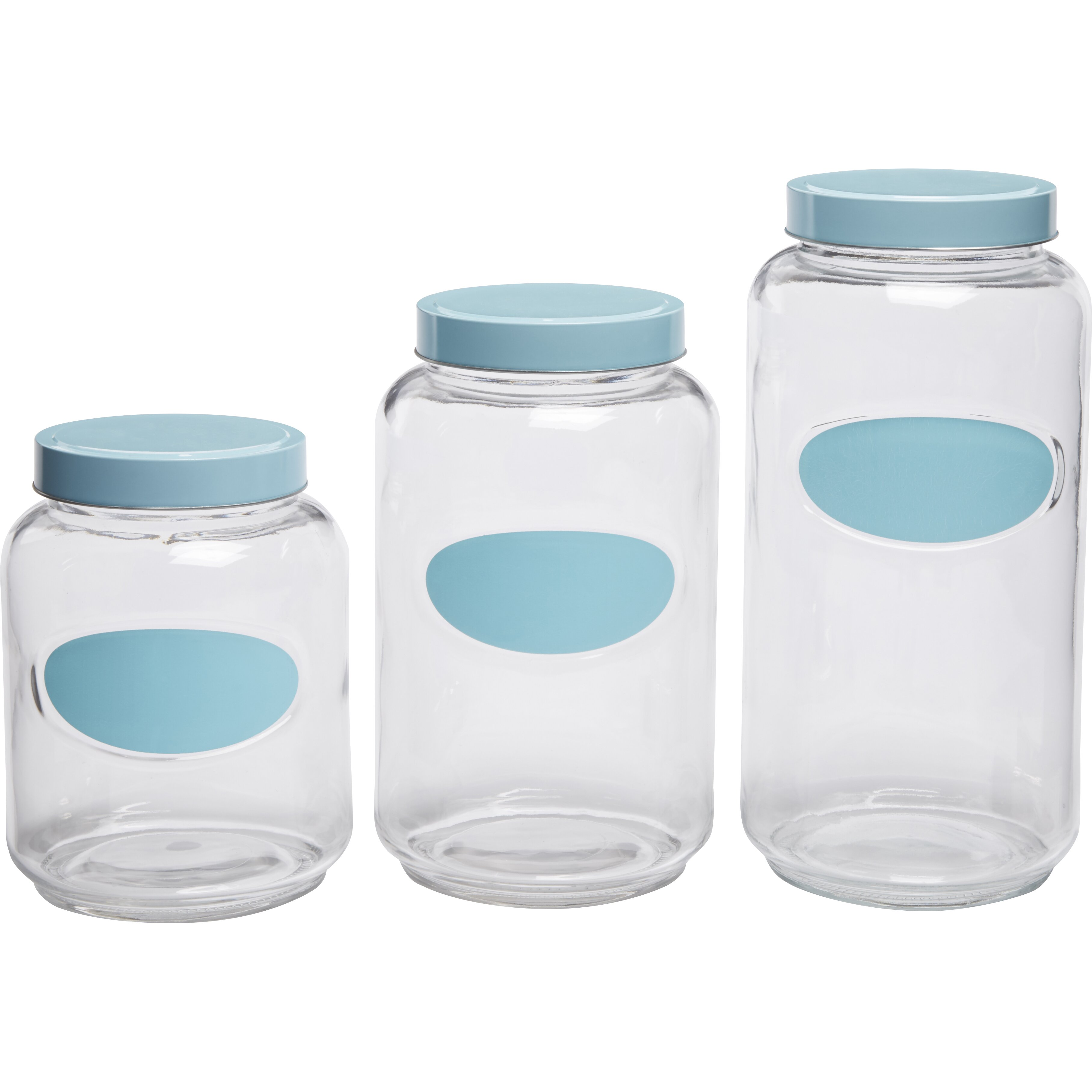 circle glass mark and store chalkboard 3 piece kitchen glass kitchen canister sets foter