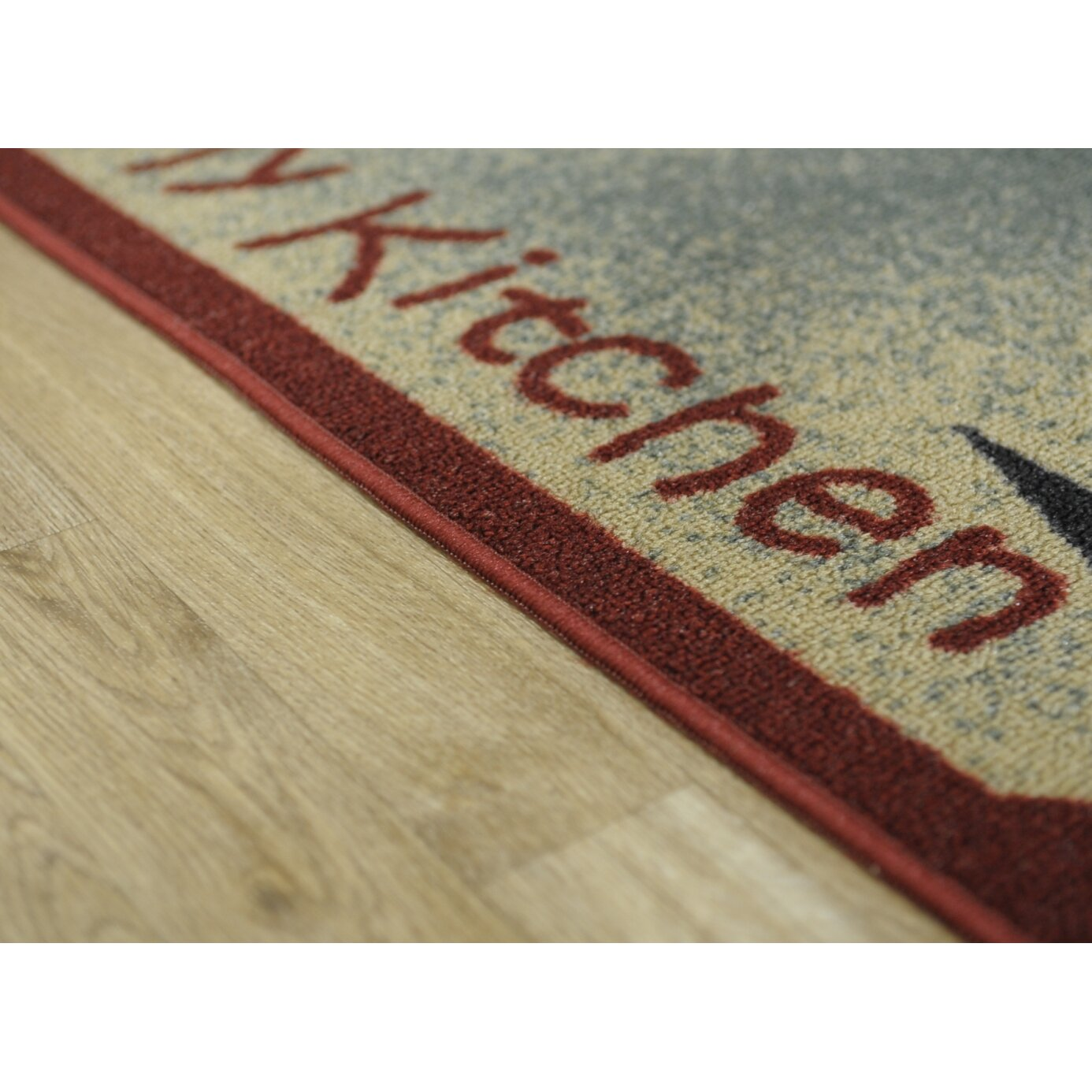 Red Kitchen Rugs And Mats Rugnur Cucina I Love My Kitchen And Utensils Cream Red Kitchen