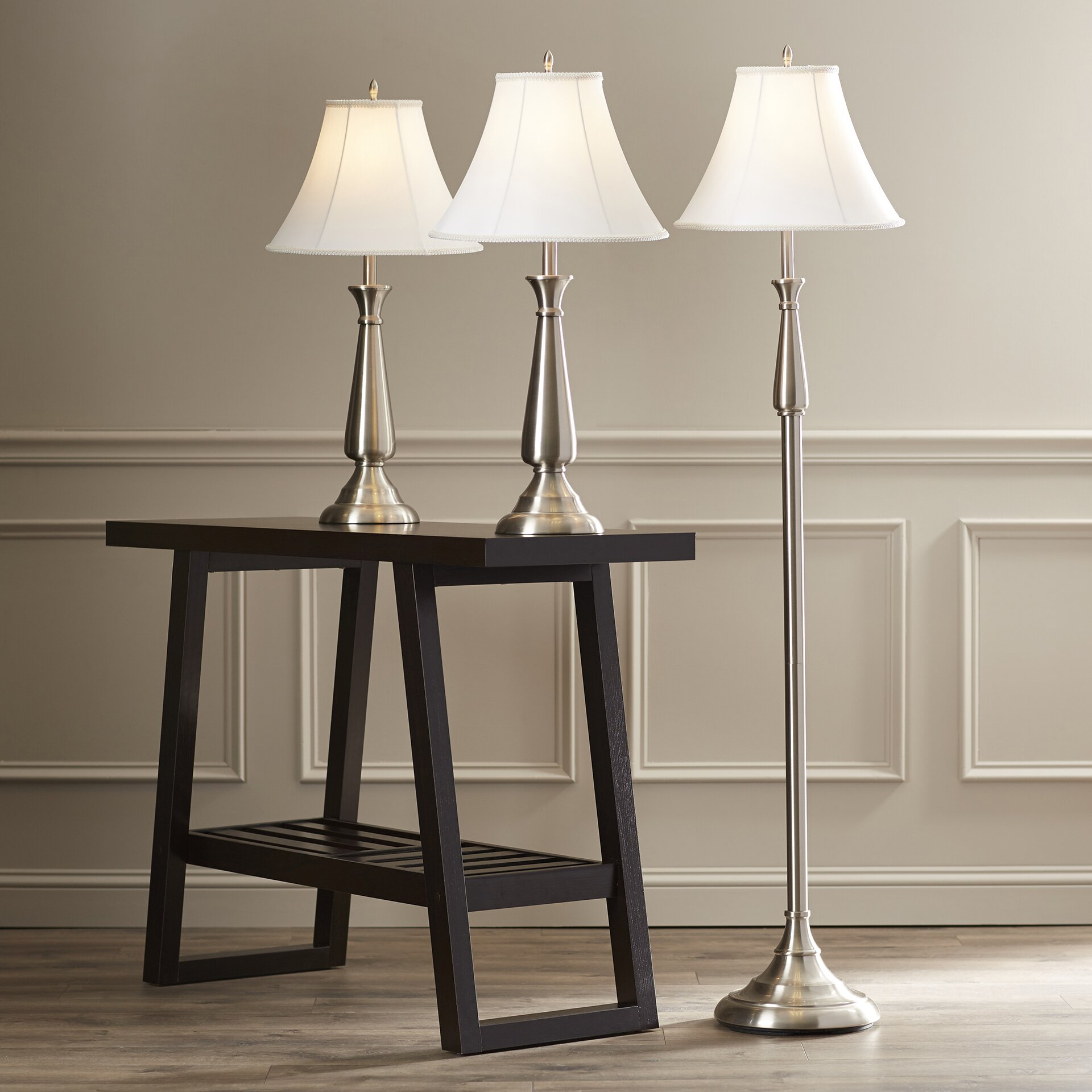 Darby Home Co Marion 3 Piece Table and Floor Lamp Set & Reviews ...:Darby Home Co® Marion 3 Piece Table and Floor Lamp Set,Lighting