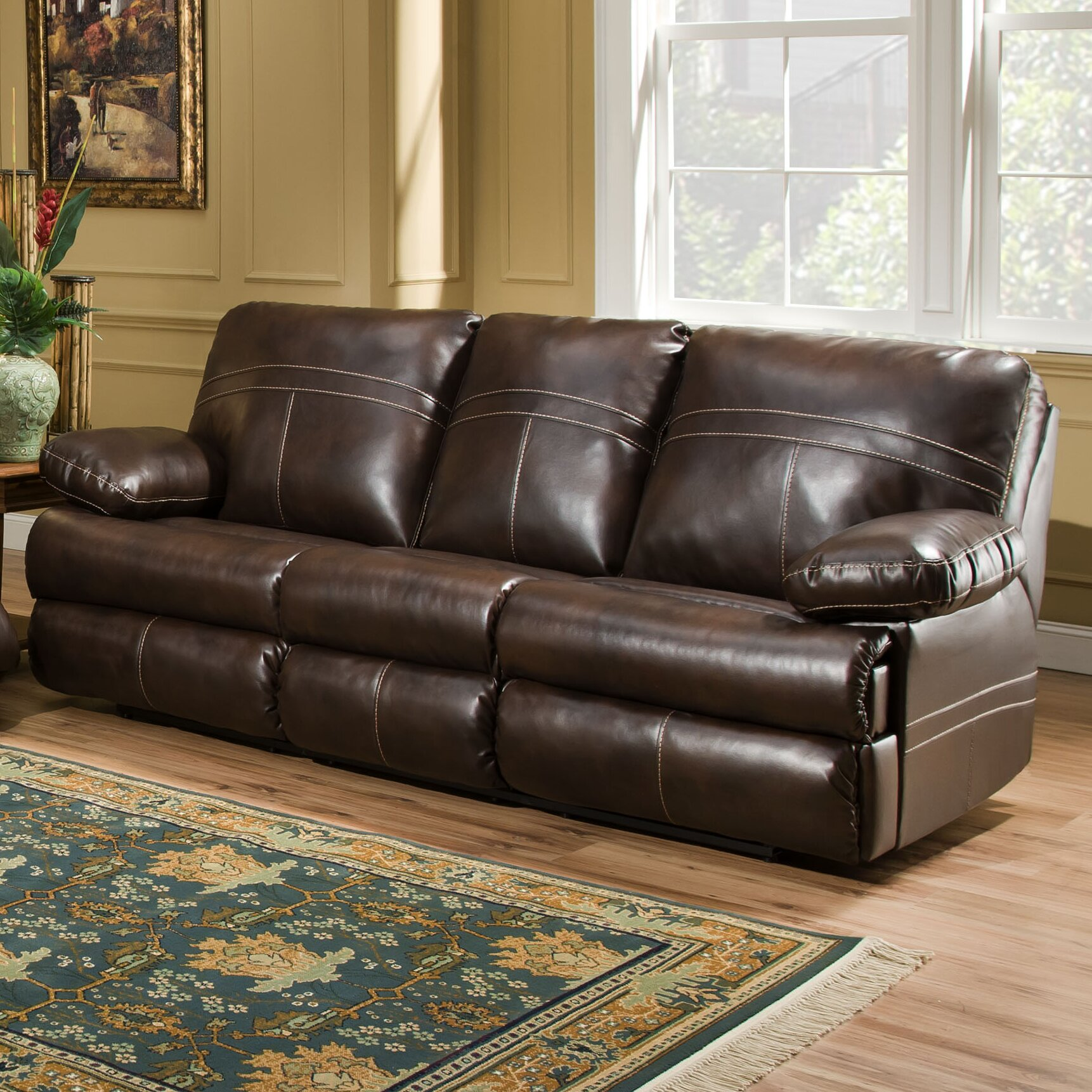 Simmons Upholstery Dynasty Double Motion Loveseat U0026 Reviews