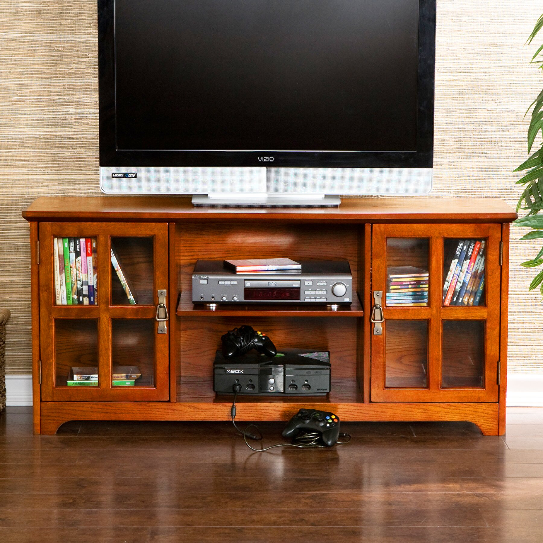 rustic tv stands youll love wayfair mission style corner tv