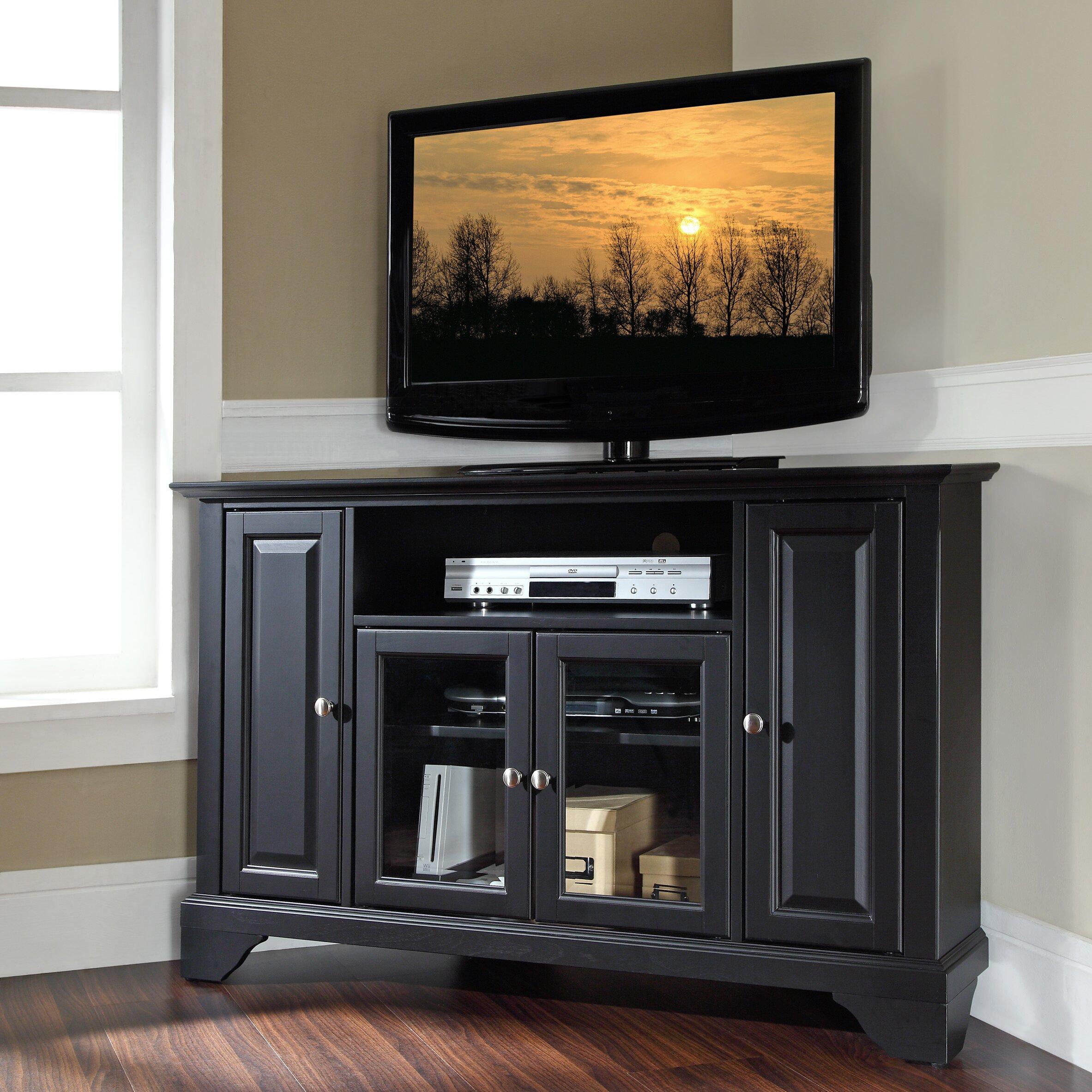 corner tv stands you'll love | wayfair