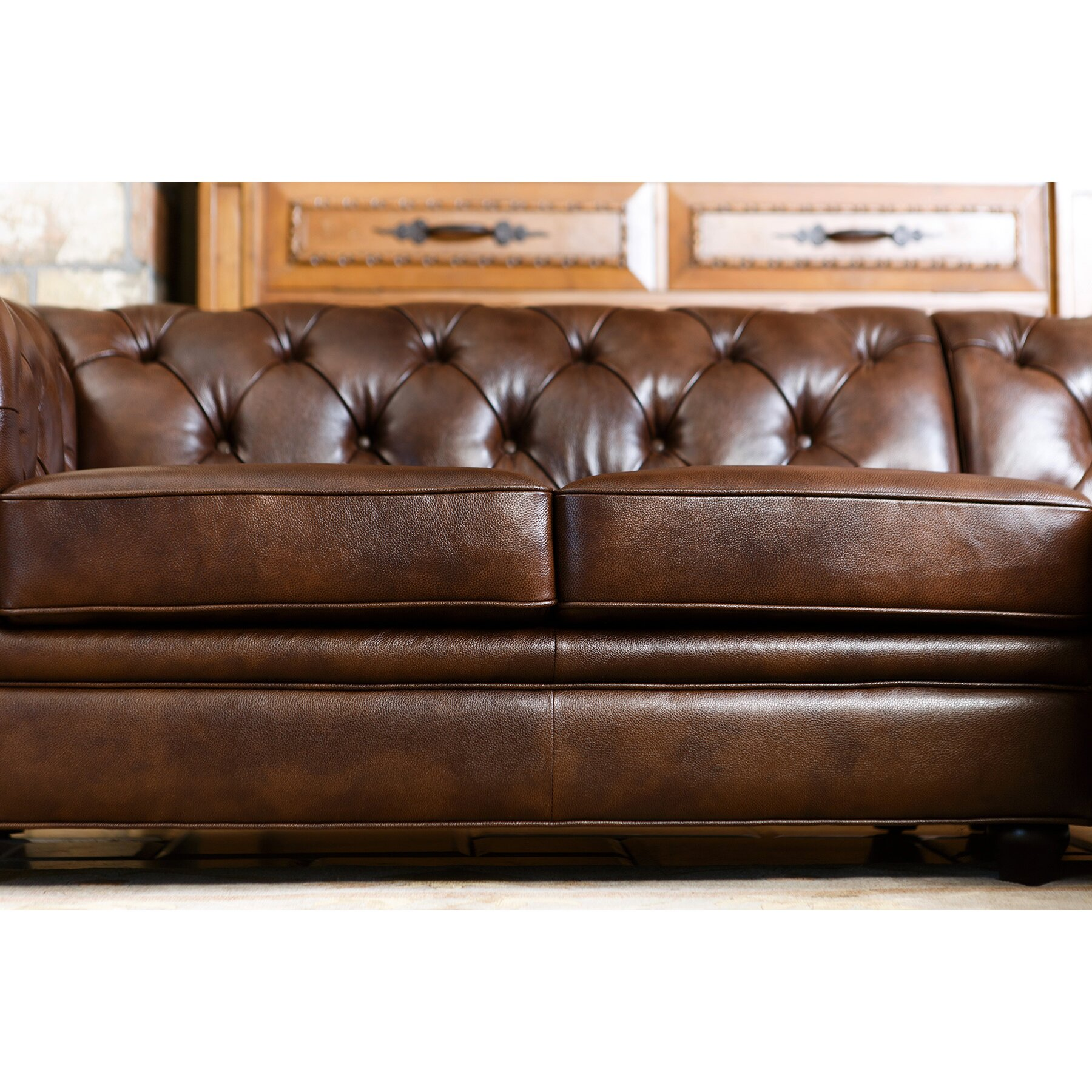 darby home co lapointe leather chaise sectional reviews wayf