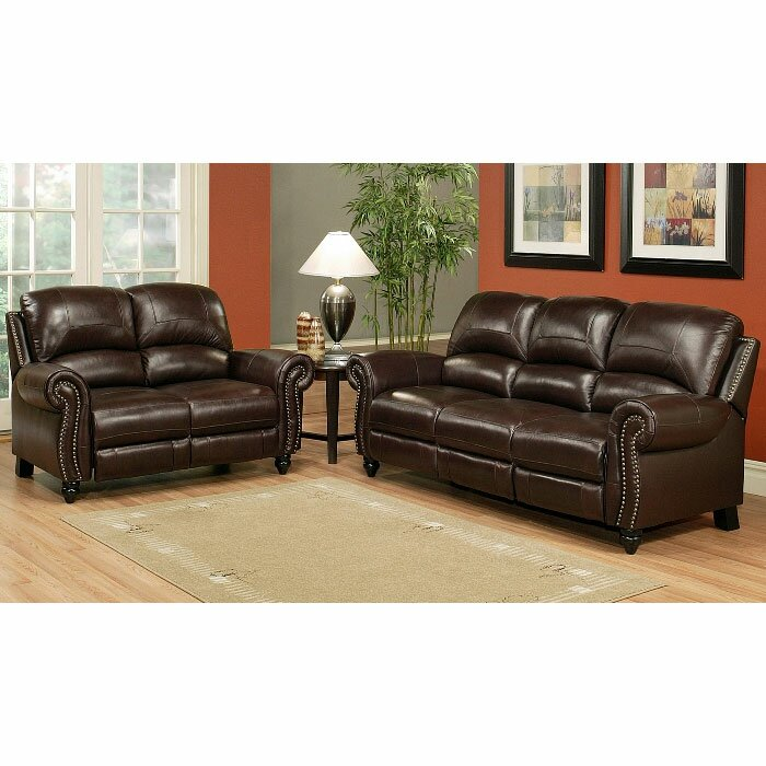 Italian Leather Sofa Charlotte Nc: Darby Home Co Kahle Leather Sofa And Loveseat Set
