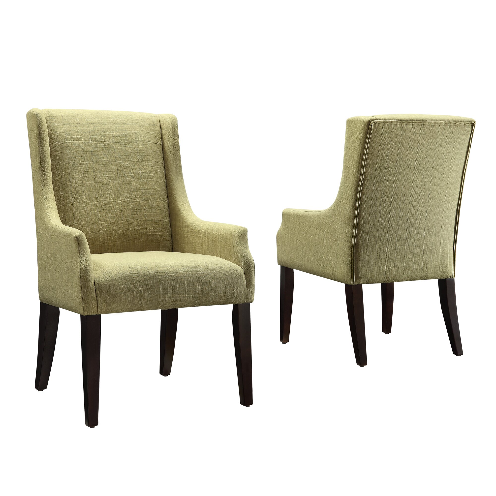Darby Home Co Tinley Linen Sloped Arm Chair & Reviews | Wayfair