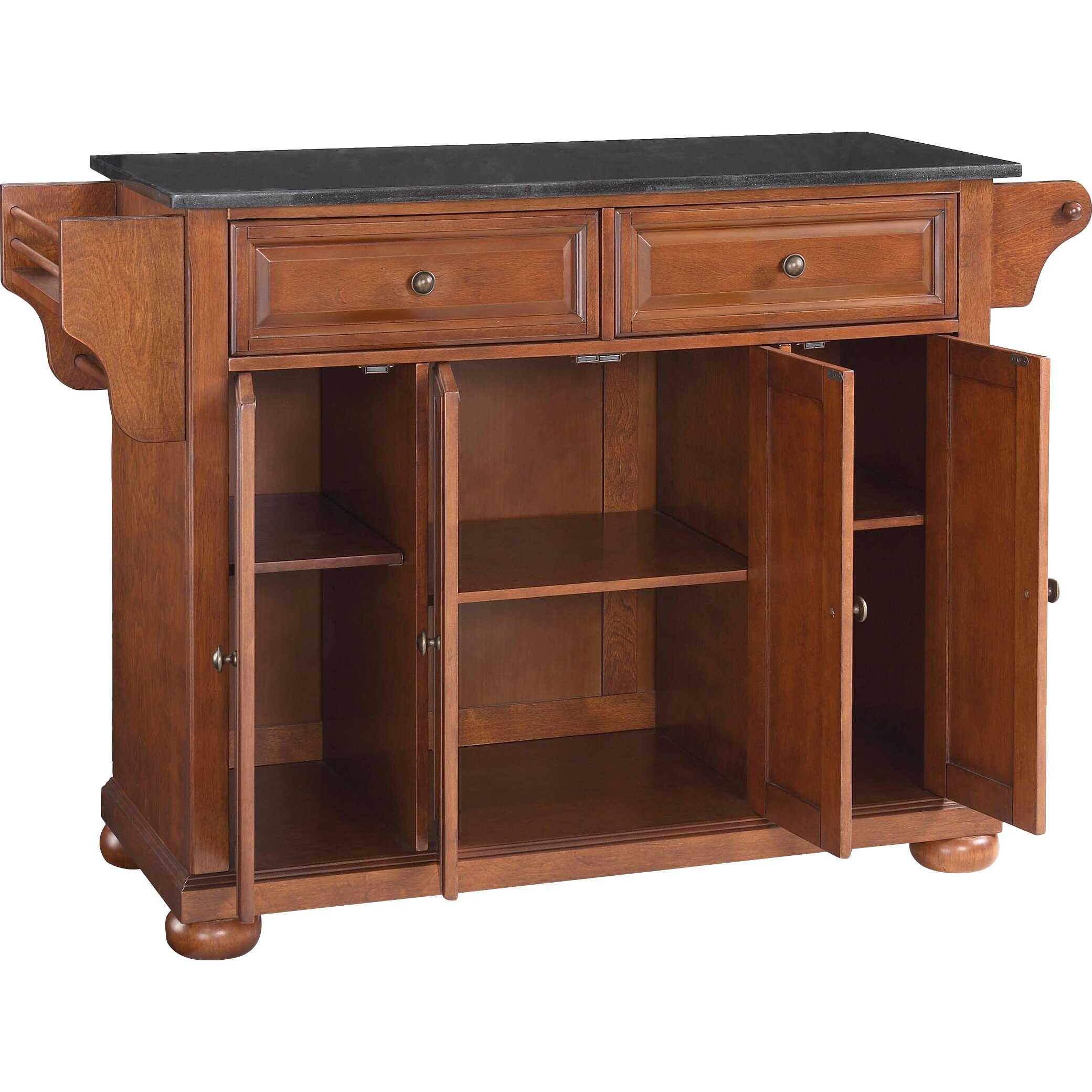 Granite Top Kitchen Island Table Darby Home Co Pottstown Kitchen Island With Granite Top Reviews