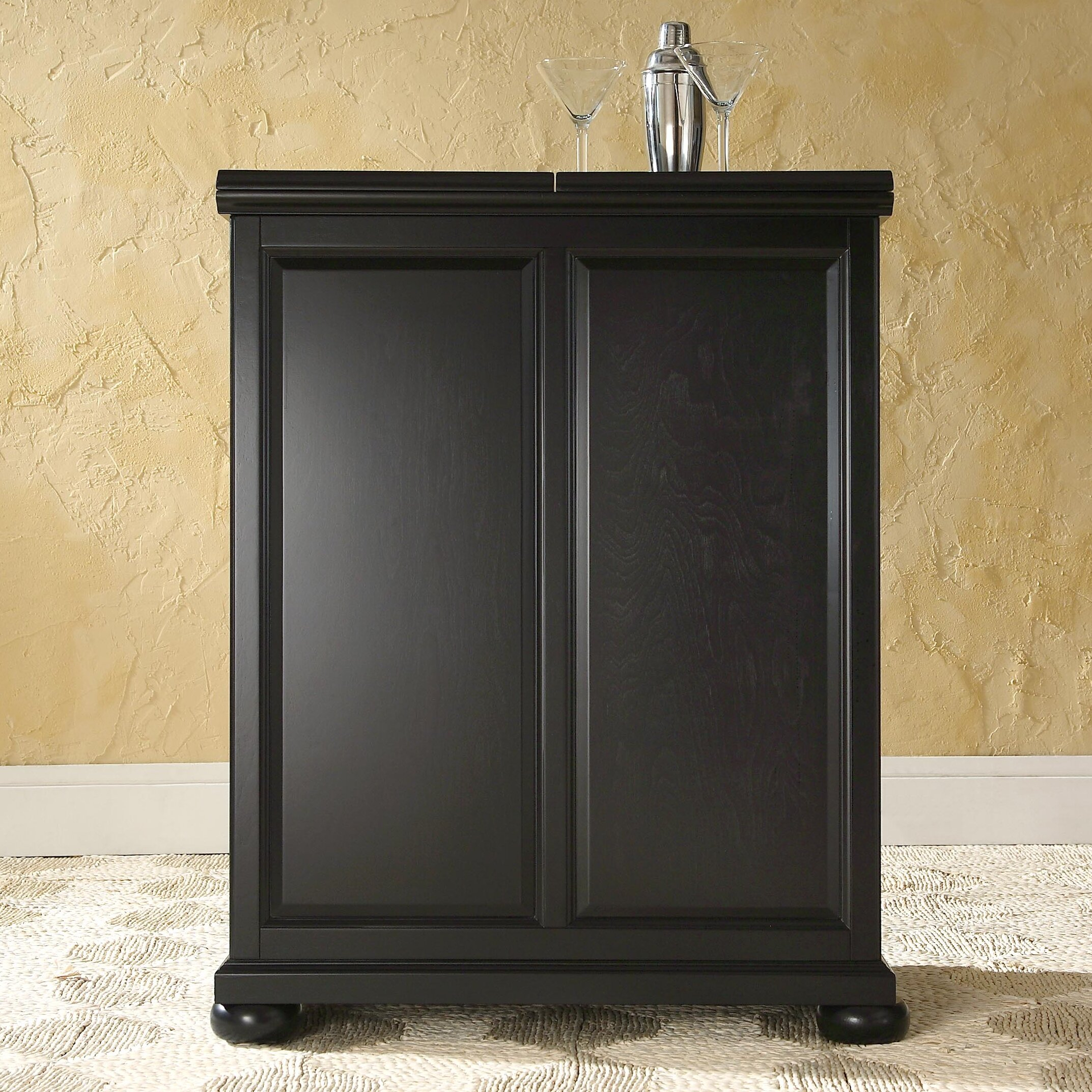 Wine Bar Storage Cabinet Darby Home Co Pottstown Expandable Bar Cabinet With Wine Storage