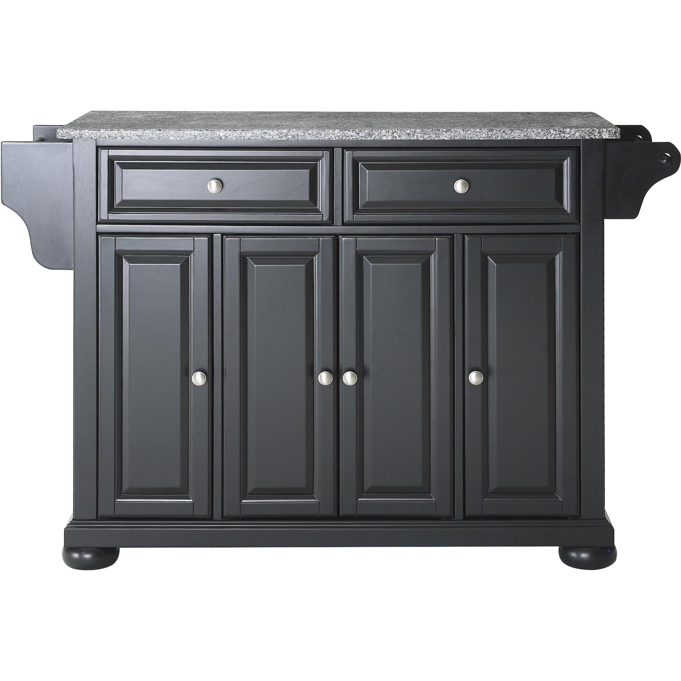 darby home co pottstown kitchen island with granite top & reviews